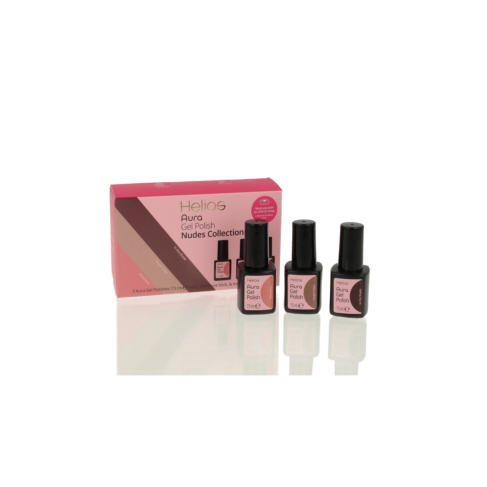 Image of Helios Pack of 3 Nudes Gel Nail Colours