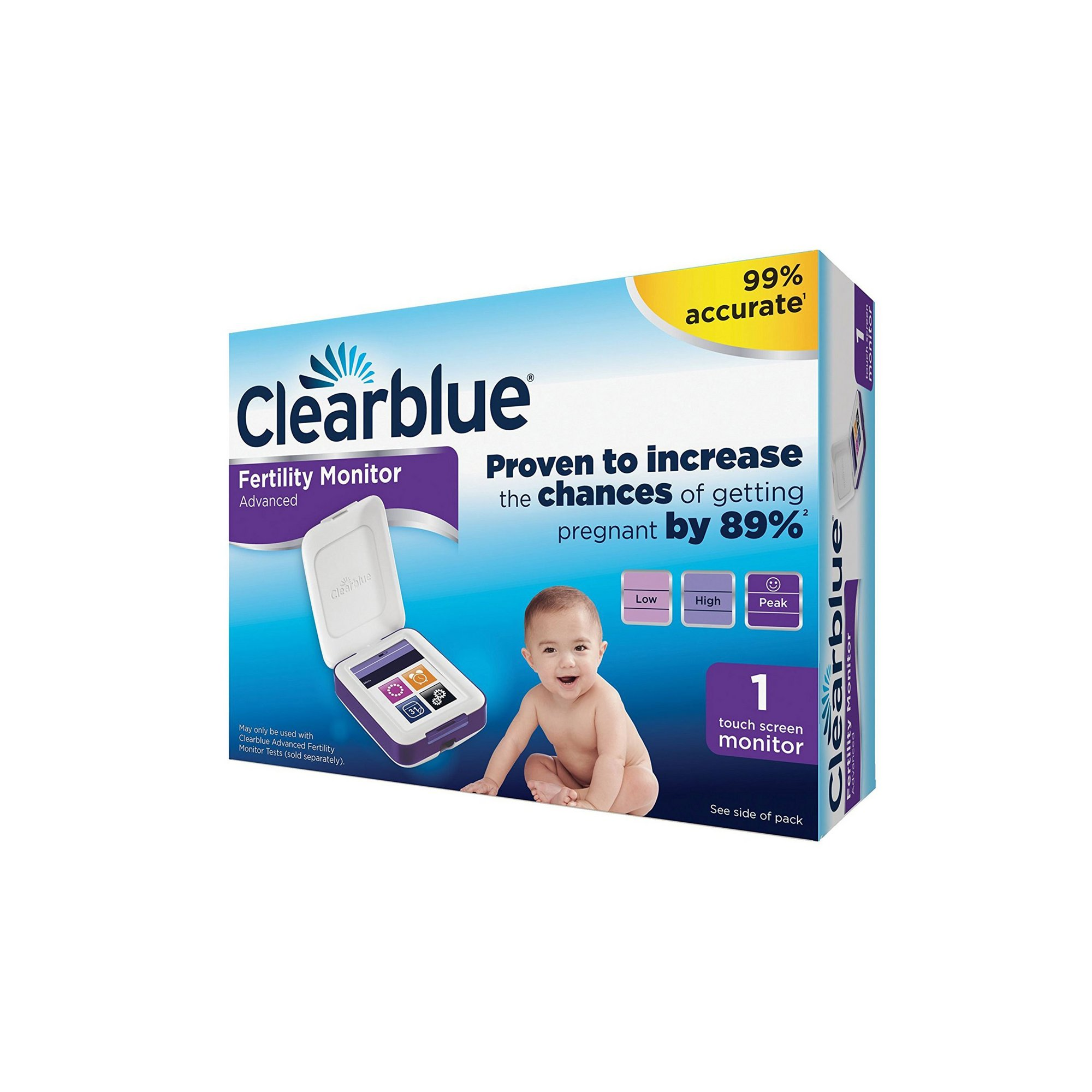 Image of Clearblue Advanced Fertility Monitor 1 Touch Screen Monitor