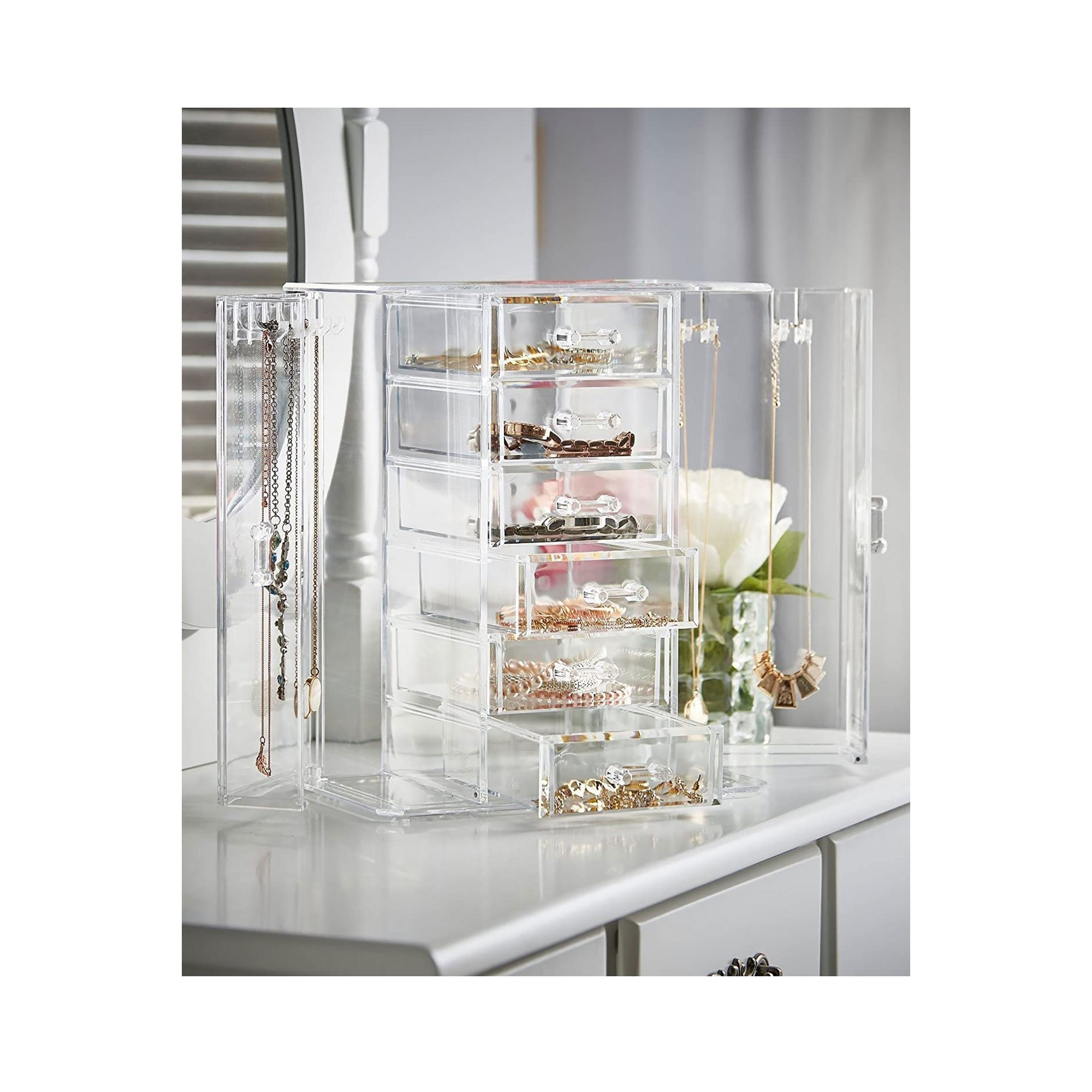 Image of Beautify Clear Jewellery Organiser