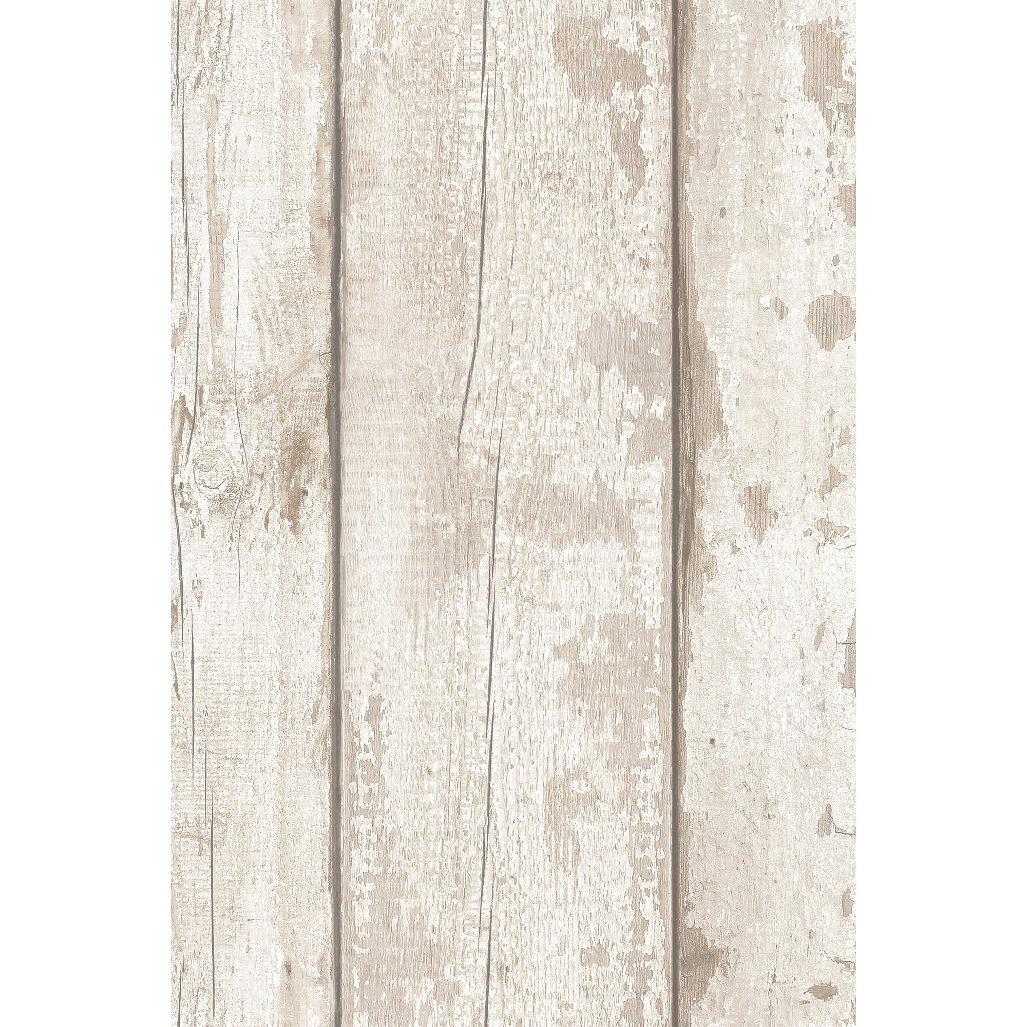 Image of AArthouse Artistick White Washed Wood Peel and Stick Wallpaper