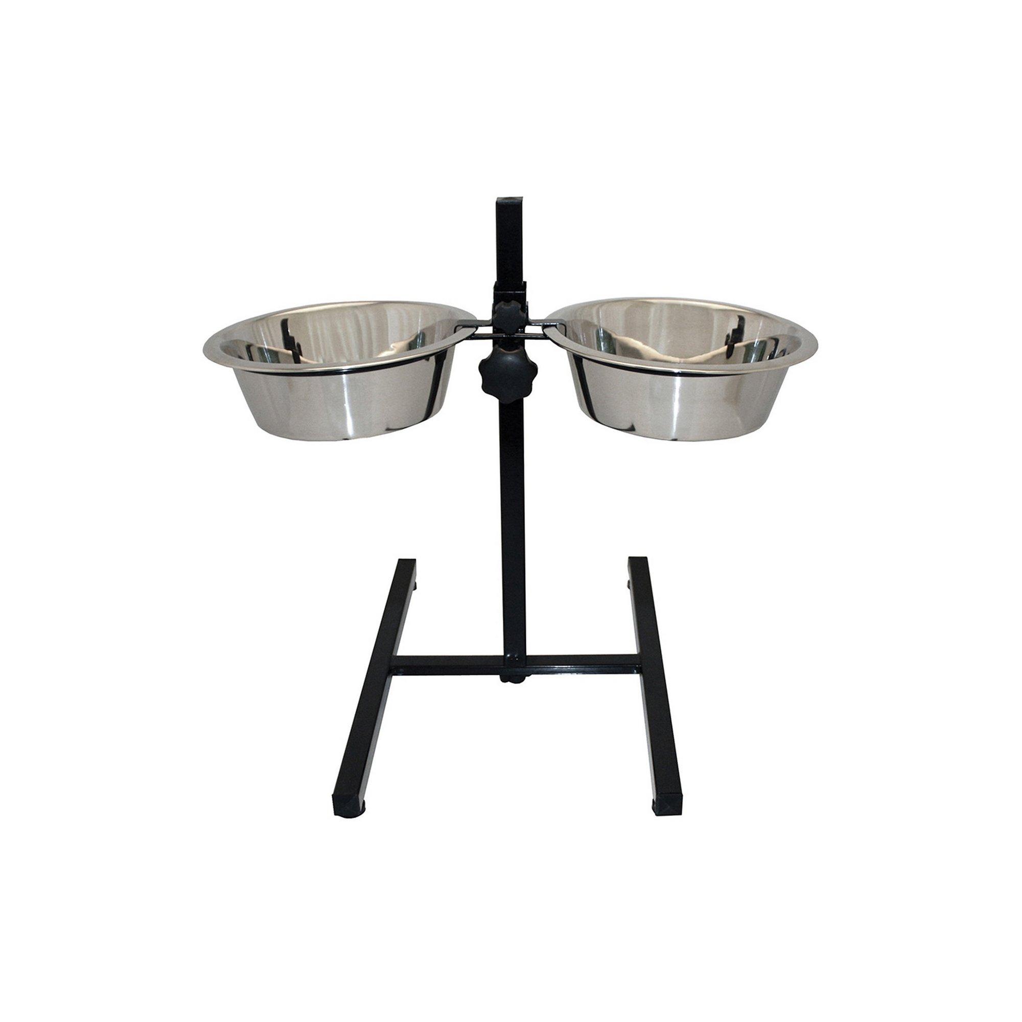 Image of Adjustable Double Diner Pet Bowl 21.5cm