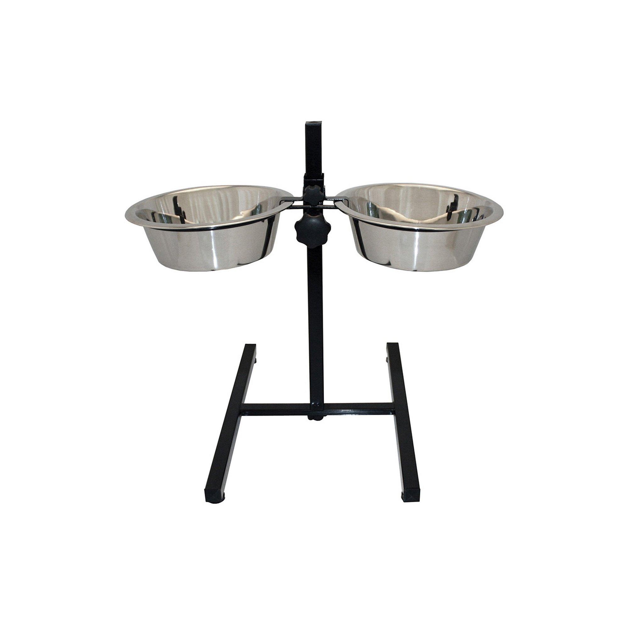 Image of Adjustable Double Diner Pet Bowl 29cm