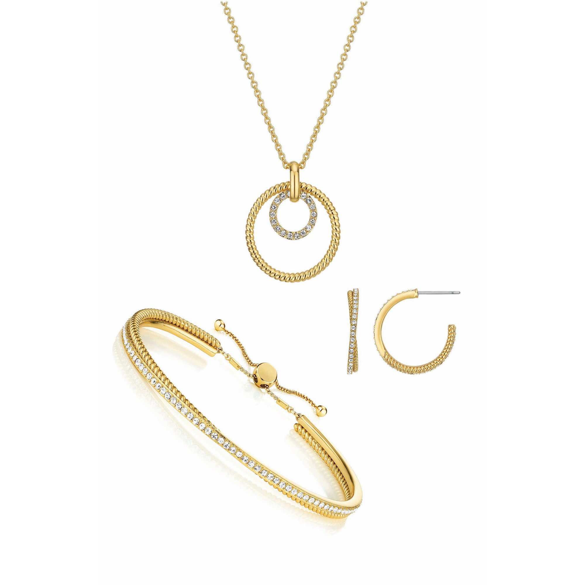 Image of Buckley London Cleo Earring Pendant and Friendship Bangle Set