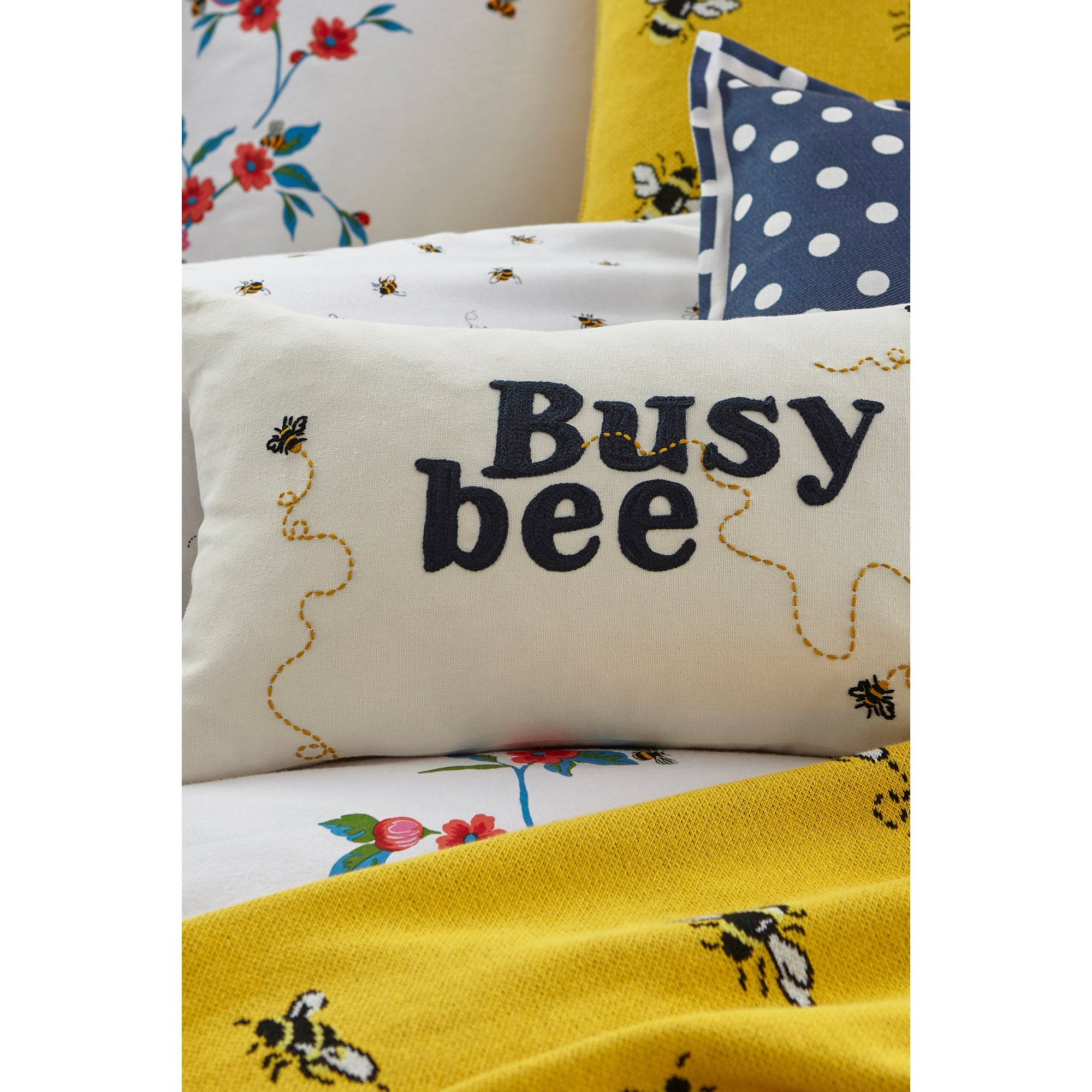 Image of Cath Kidston Busy Bee Filled Cushion