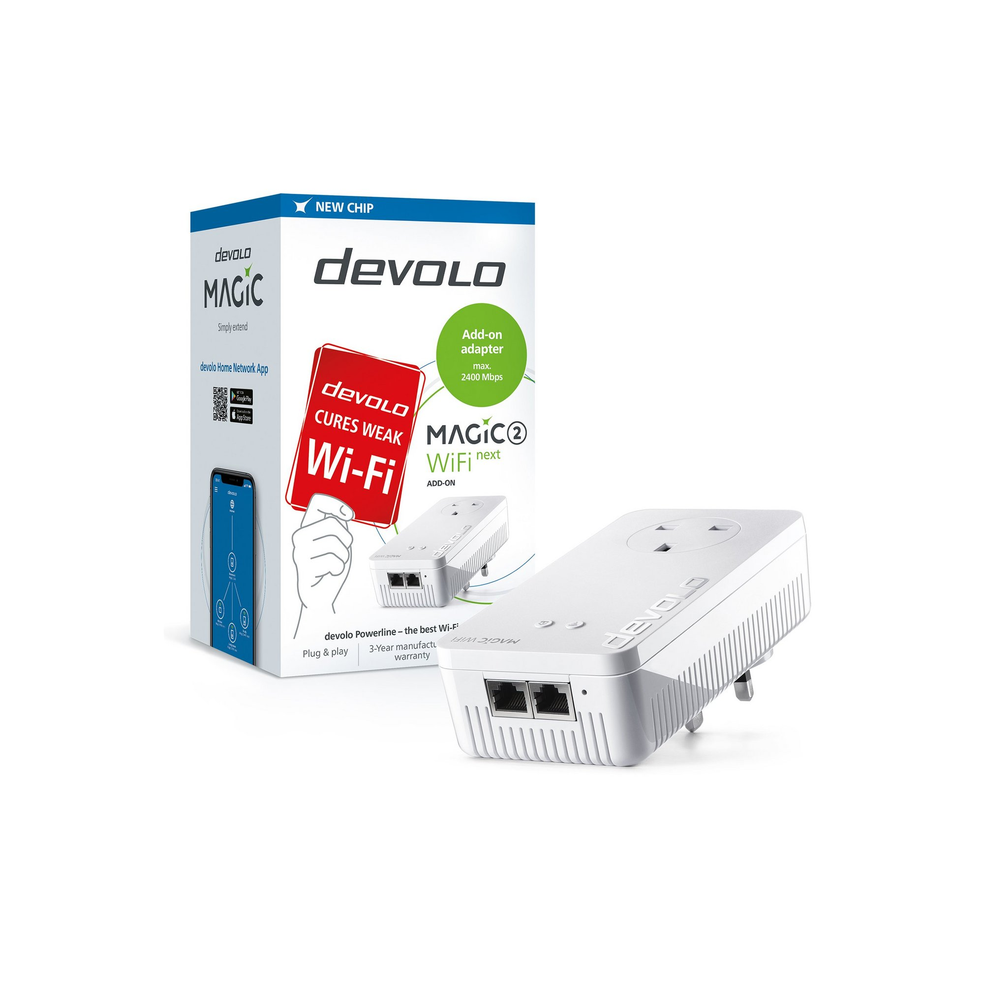 Image of Devolo Magic 2 2400 WiFi NEXT Add-On Adapter