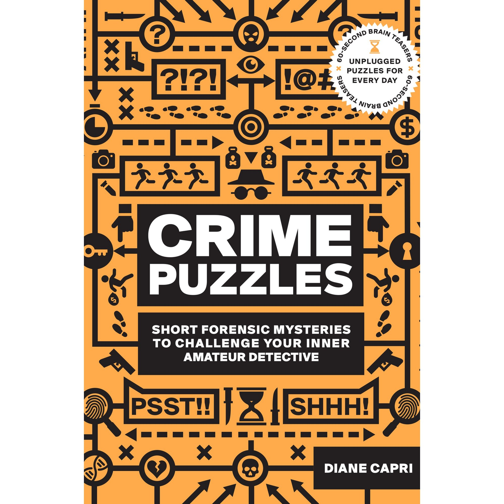 Image of 60 Second Brain Teaser Crime Puzzles Book