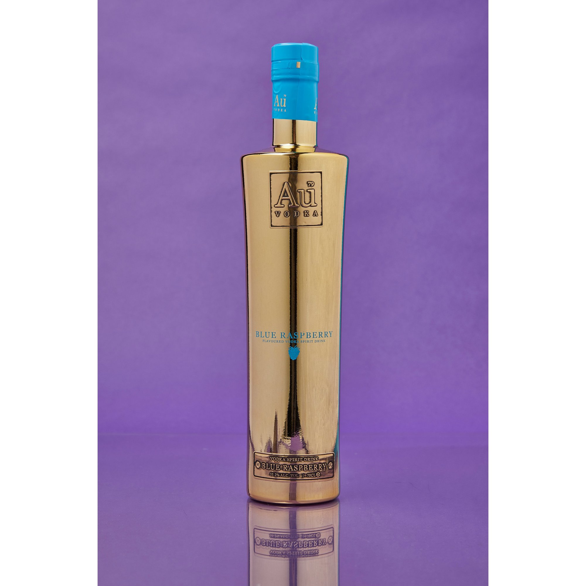 Image of Au Vodka Blue Raspberry 70cl