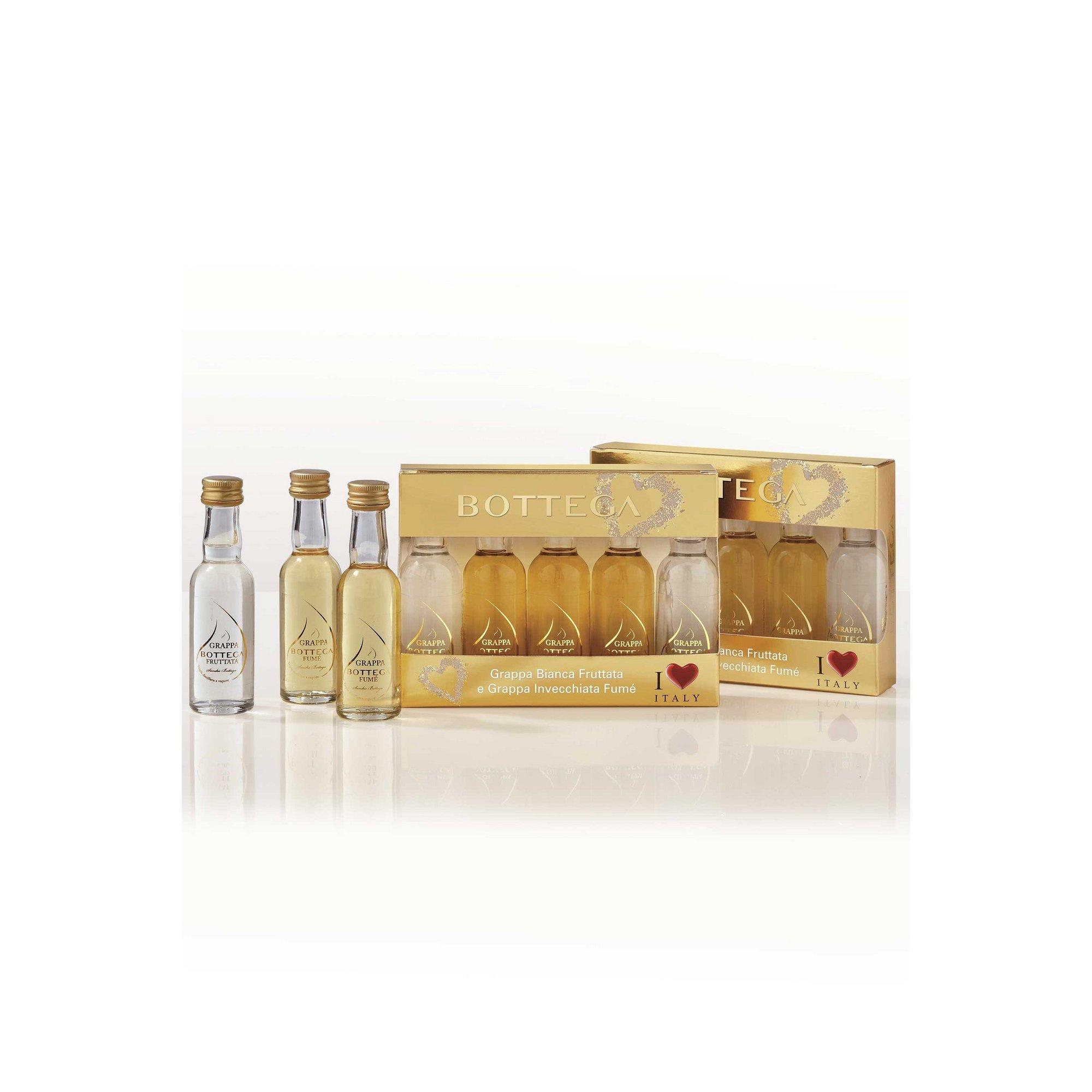 Image of Bottega Grappa Prosecco Miniature Gift Set