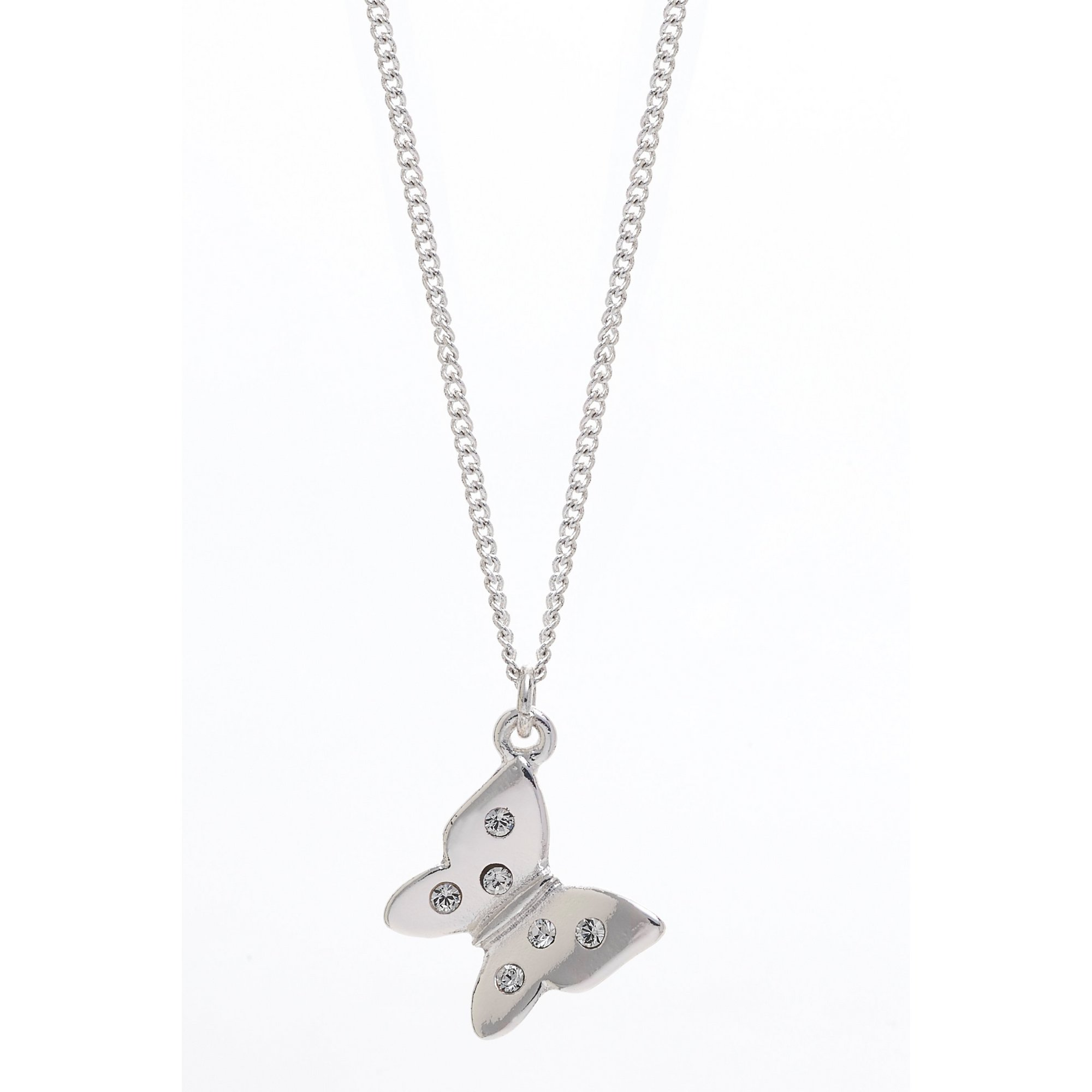 Image of Eternity Swarovski Butterfly Pendant and Chain
