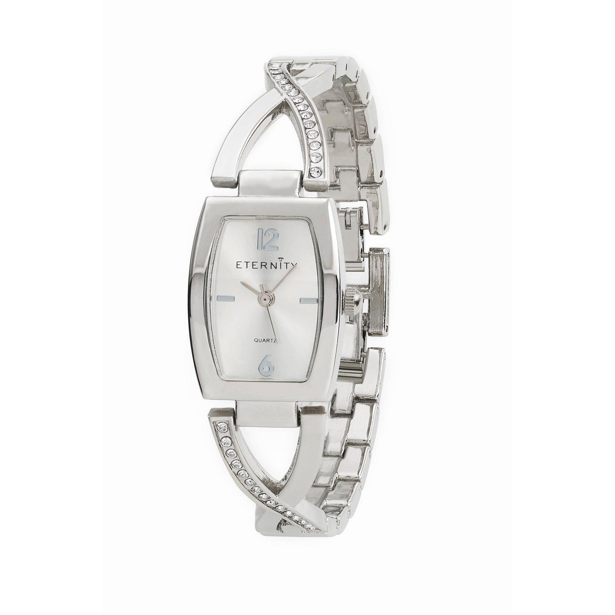 Image of Eternity Ladies Silver Tone Bracelet Watch