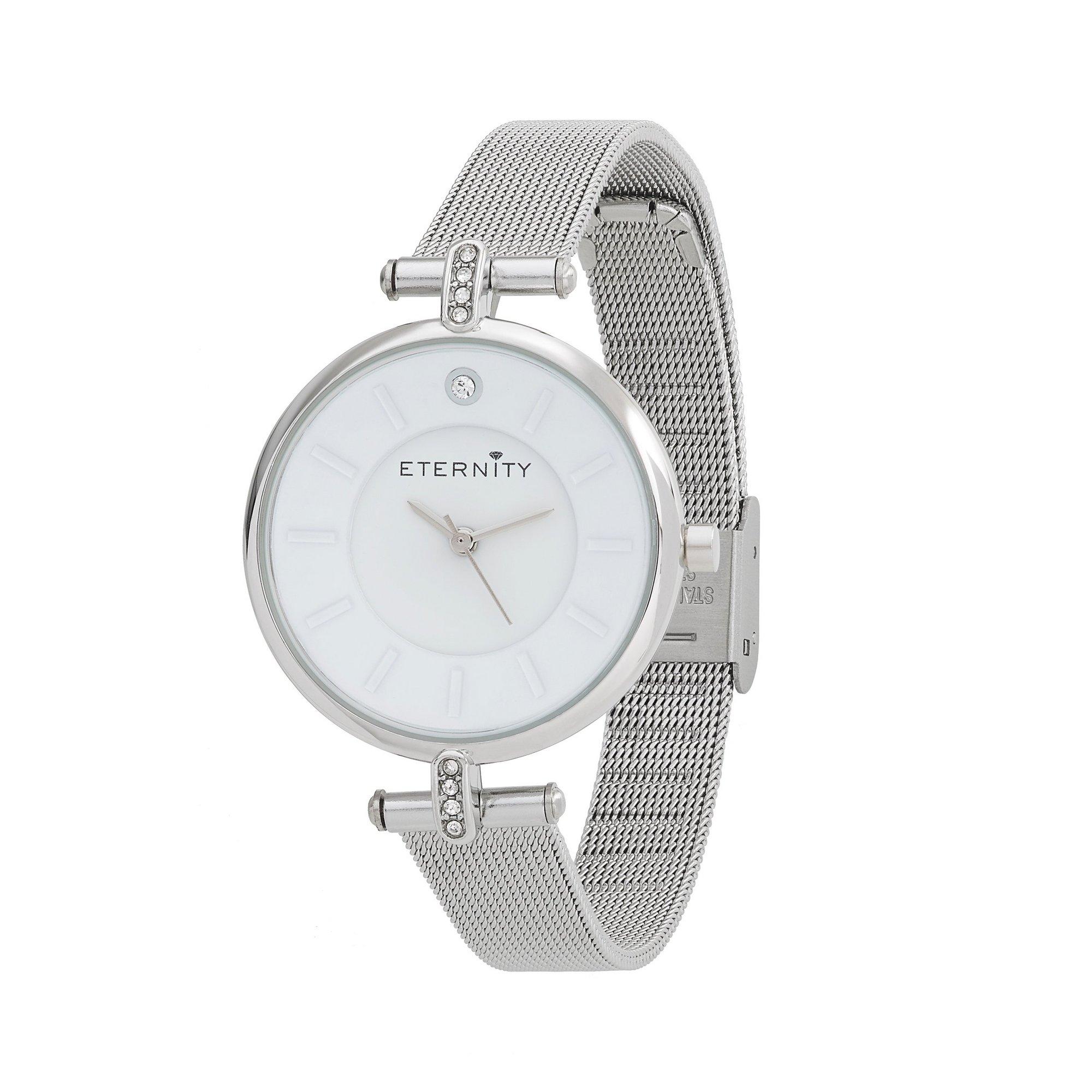 Image of Eternity Ladies Silver Tone Mesh Strap Watch