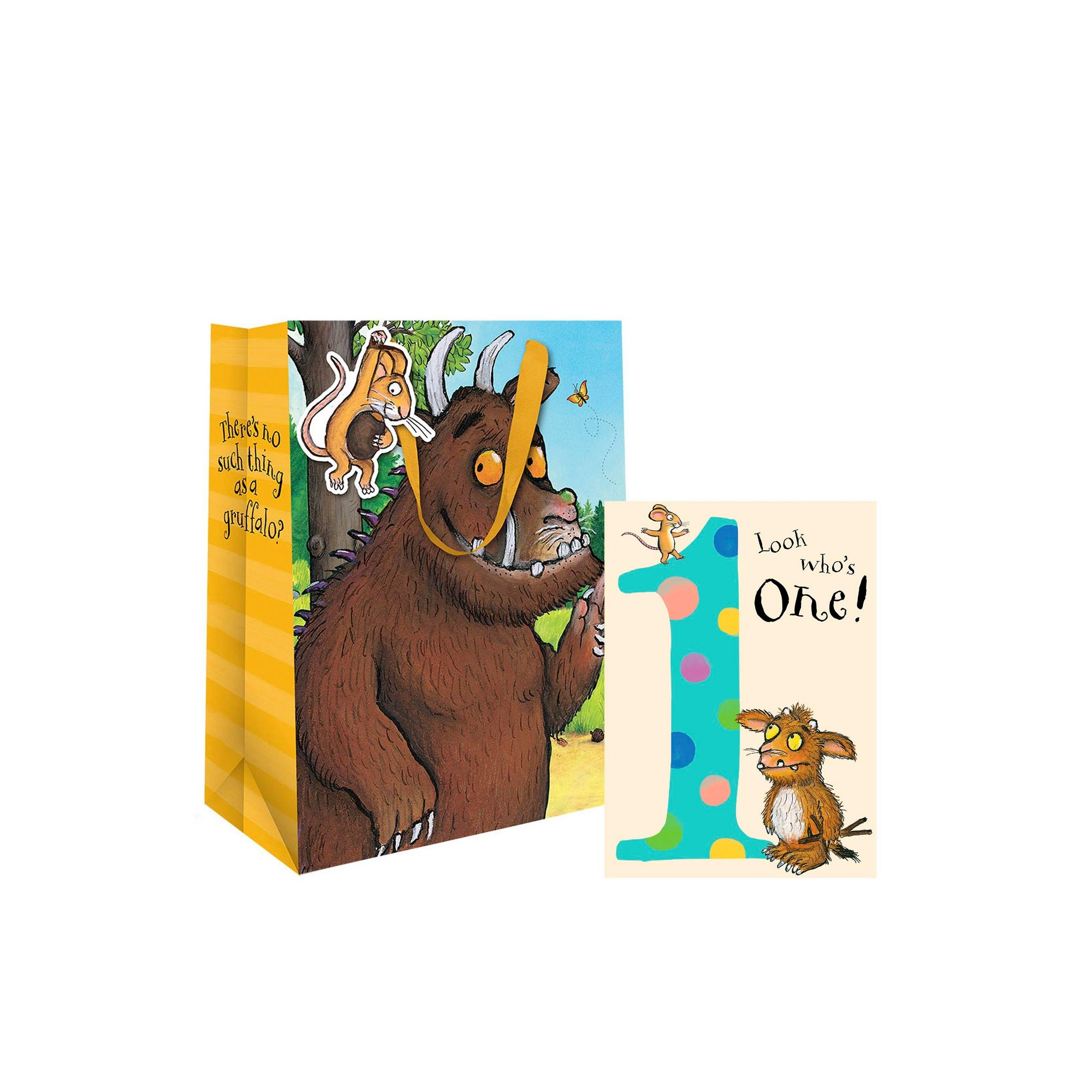Image of Gruffalo 1st Birthday Card and Gift Bag