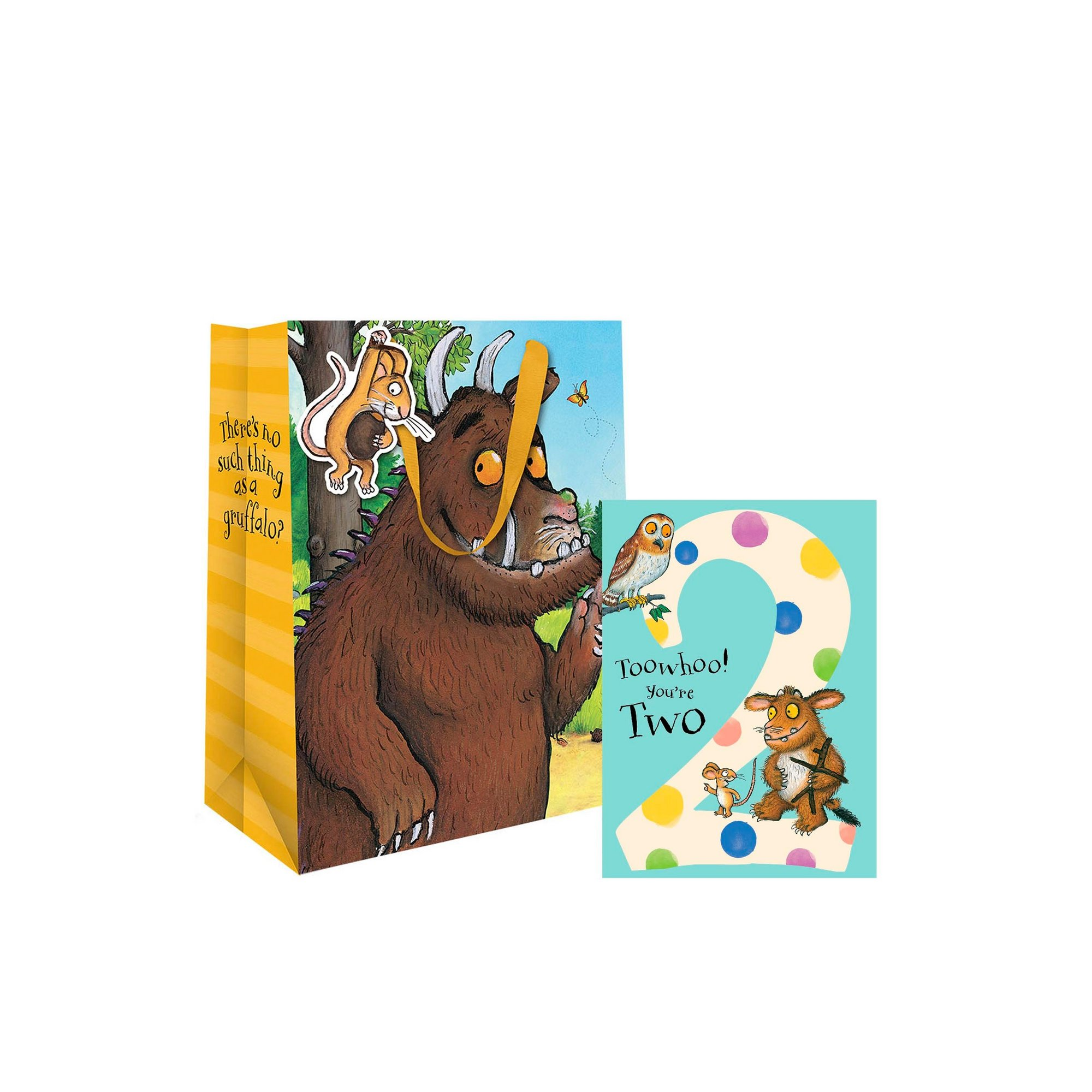 Image of Gruffalo 2nd Birthday Card and Gift Bag