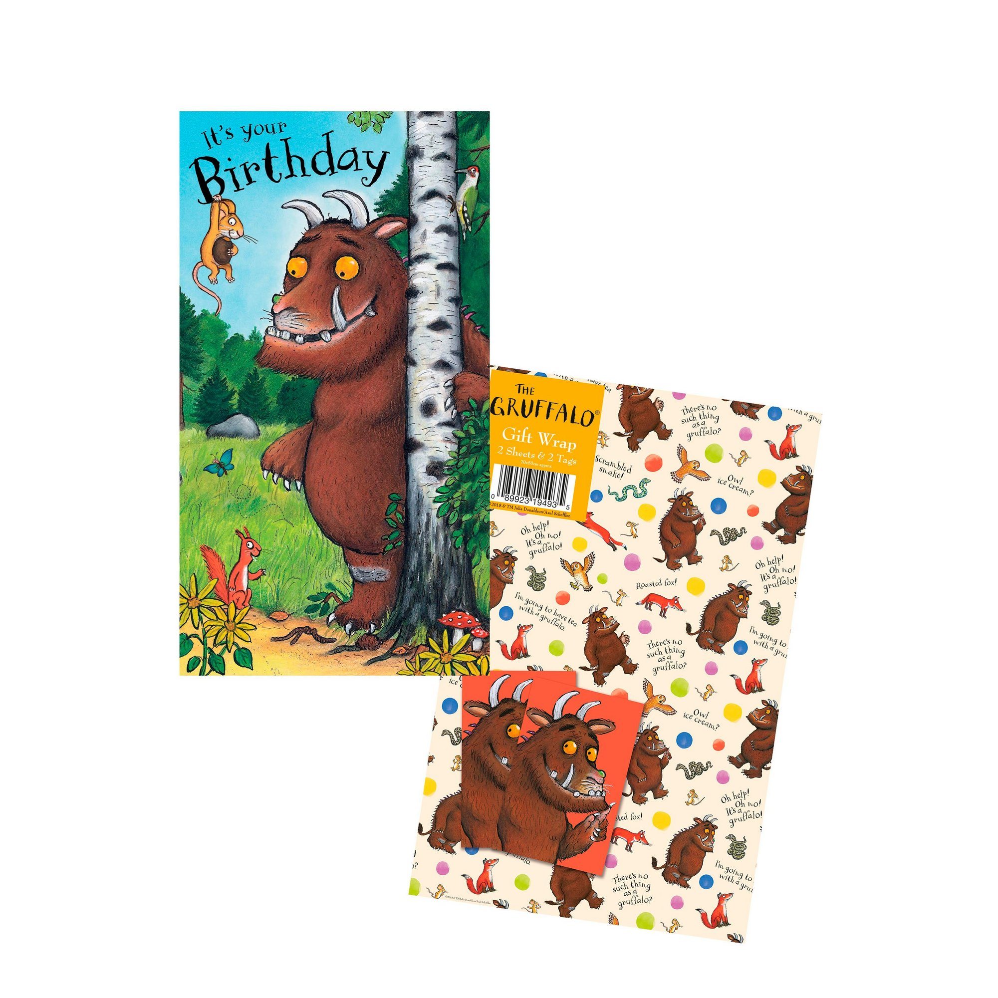 Image of Gruffalo Birthday Card and Gift Wrap