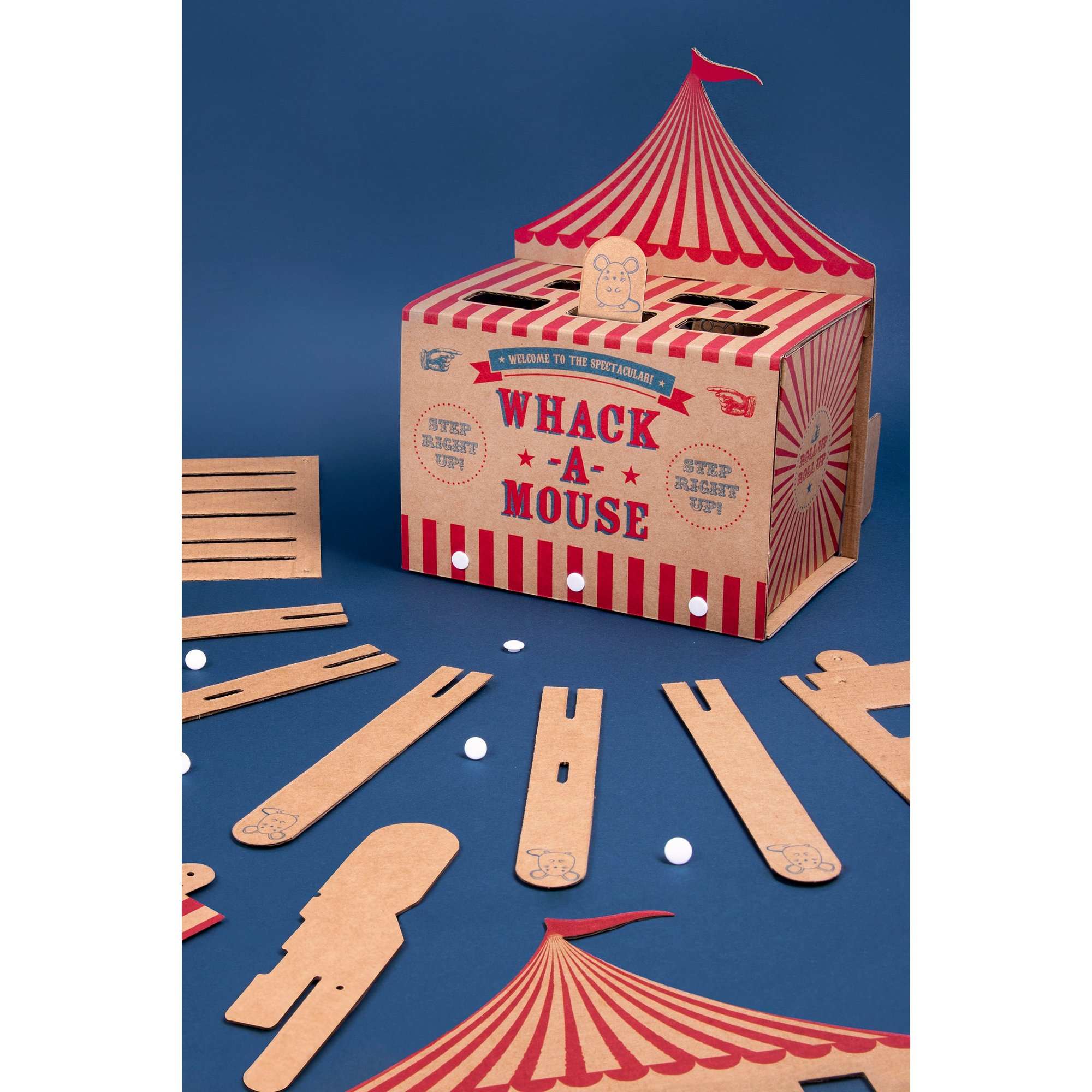 Image of Cardboard Whac-a-Mole Cat Game