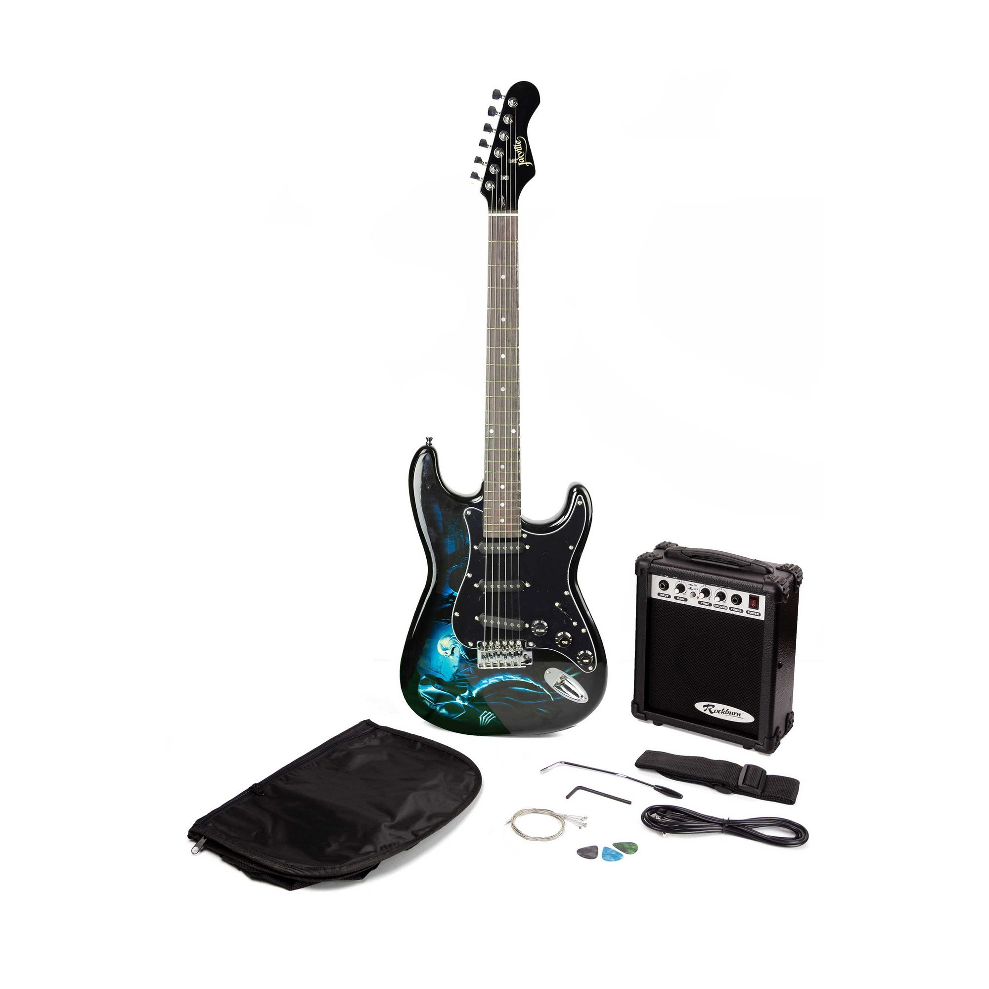 Image of Jaxville Hades St Style Electric Guitar