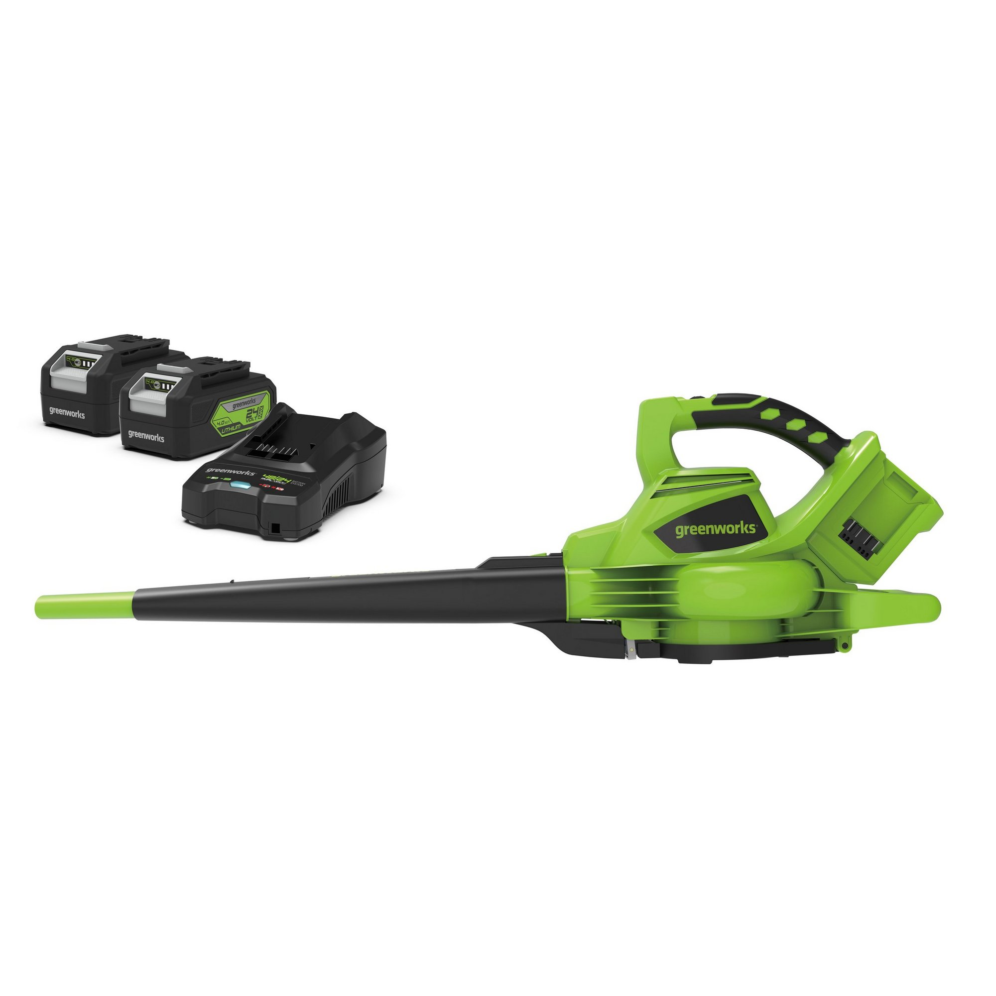 Image of Greenworks 48V Cordless Blower and Vacuum with 2 x 24V 4Ah Batter...