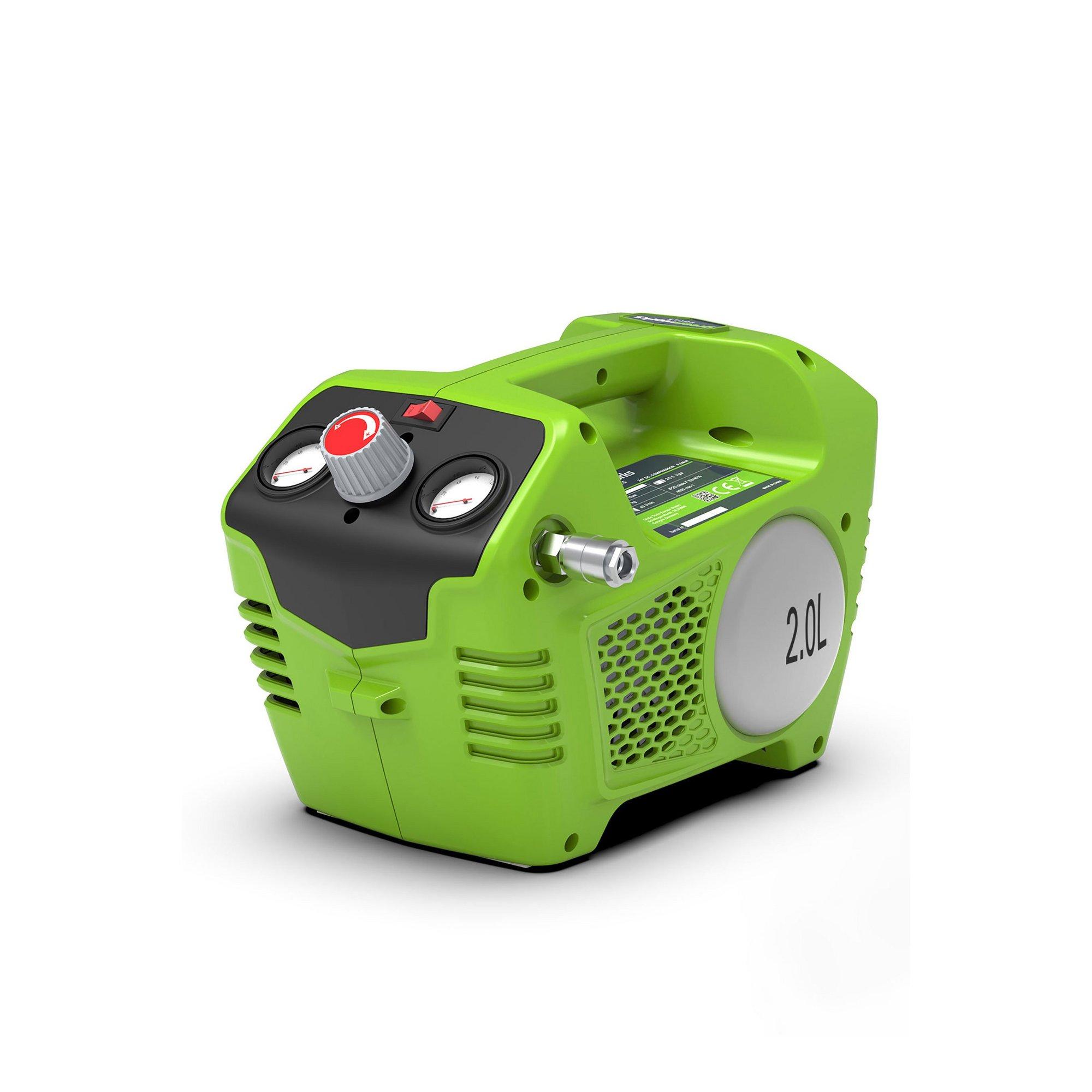 Image of Greenworks 24V Cordless 115psi (8 bar) Compressor (Tool Only)