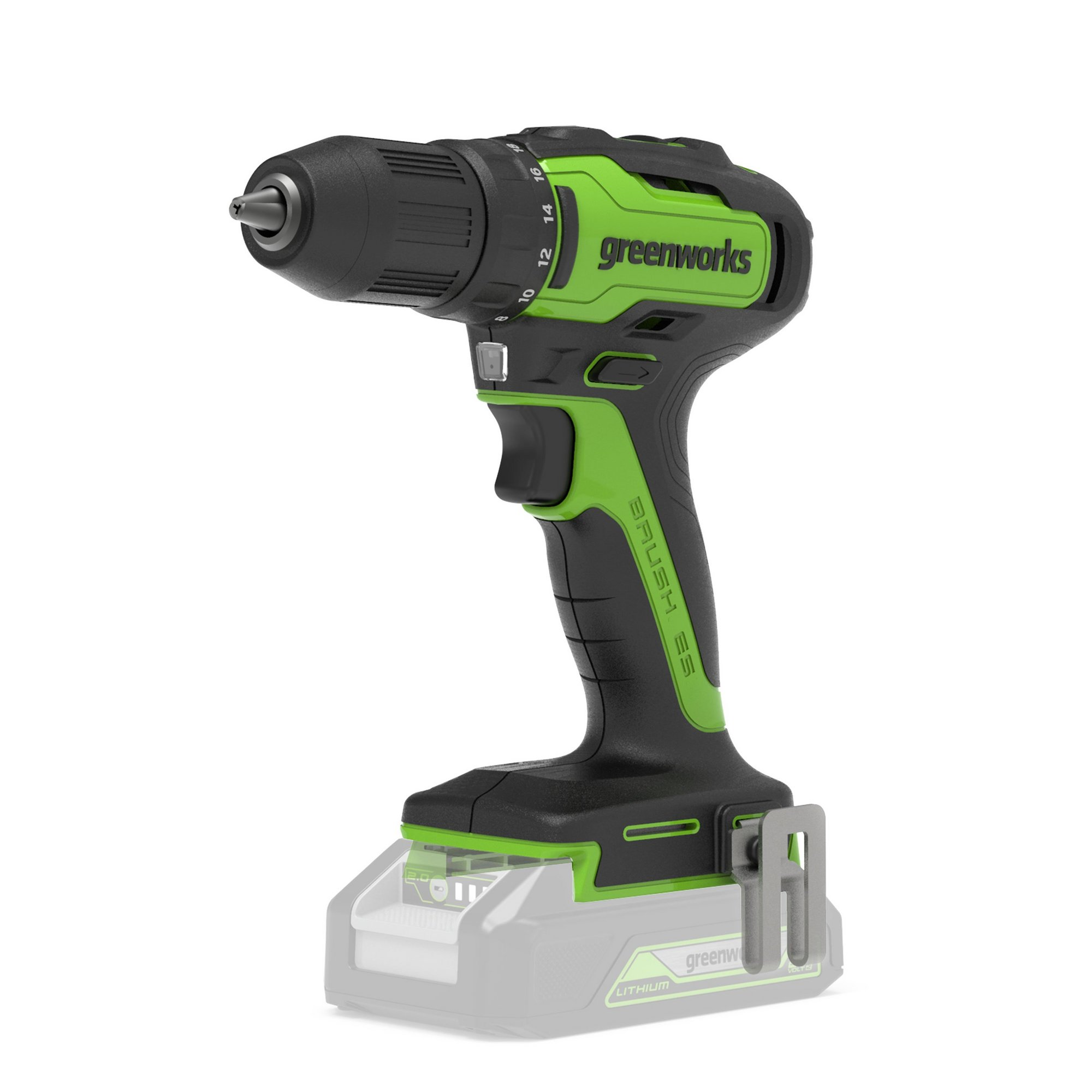 Image of Greenworks 24V Brushless Drill Driver 35Nm (Tool Only)