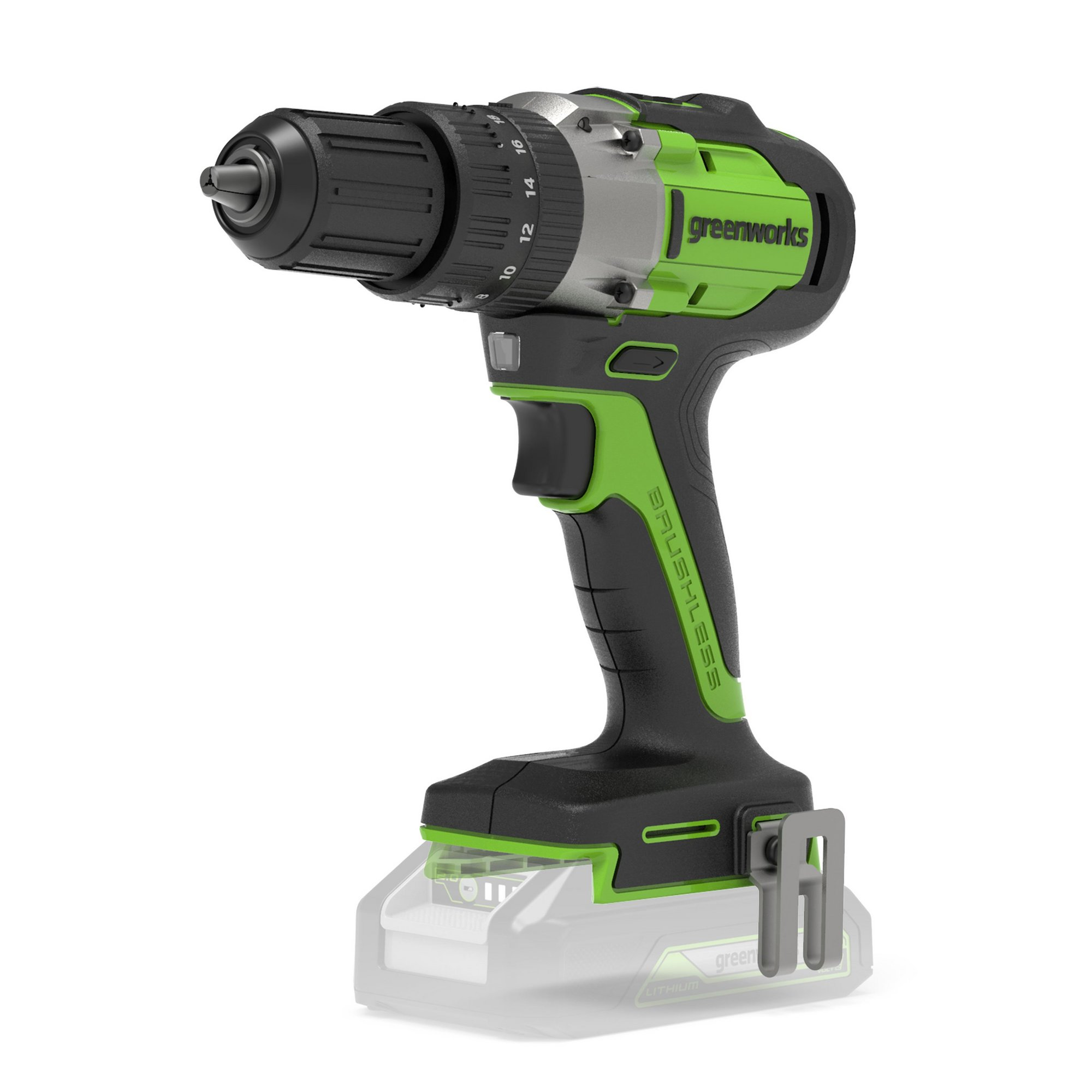 Image of Greenworks 24V Brushless Drill Driver 60Nm (Tool Only)