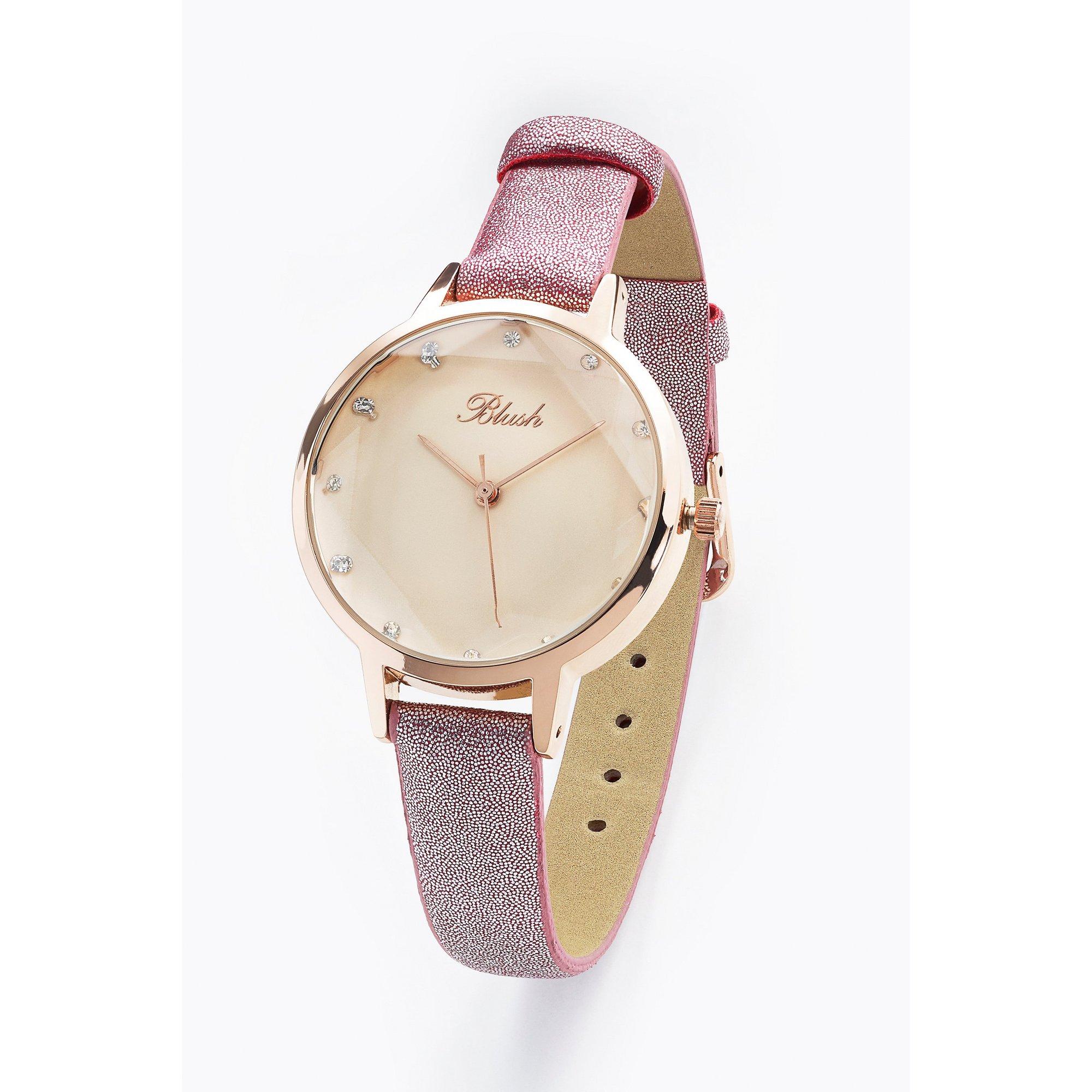 Image of Blush Berry PU Strap Fashion Watch