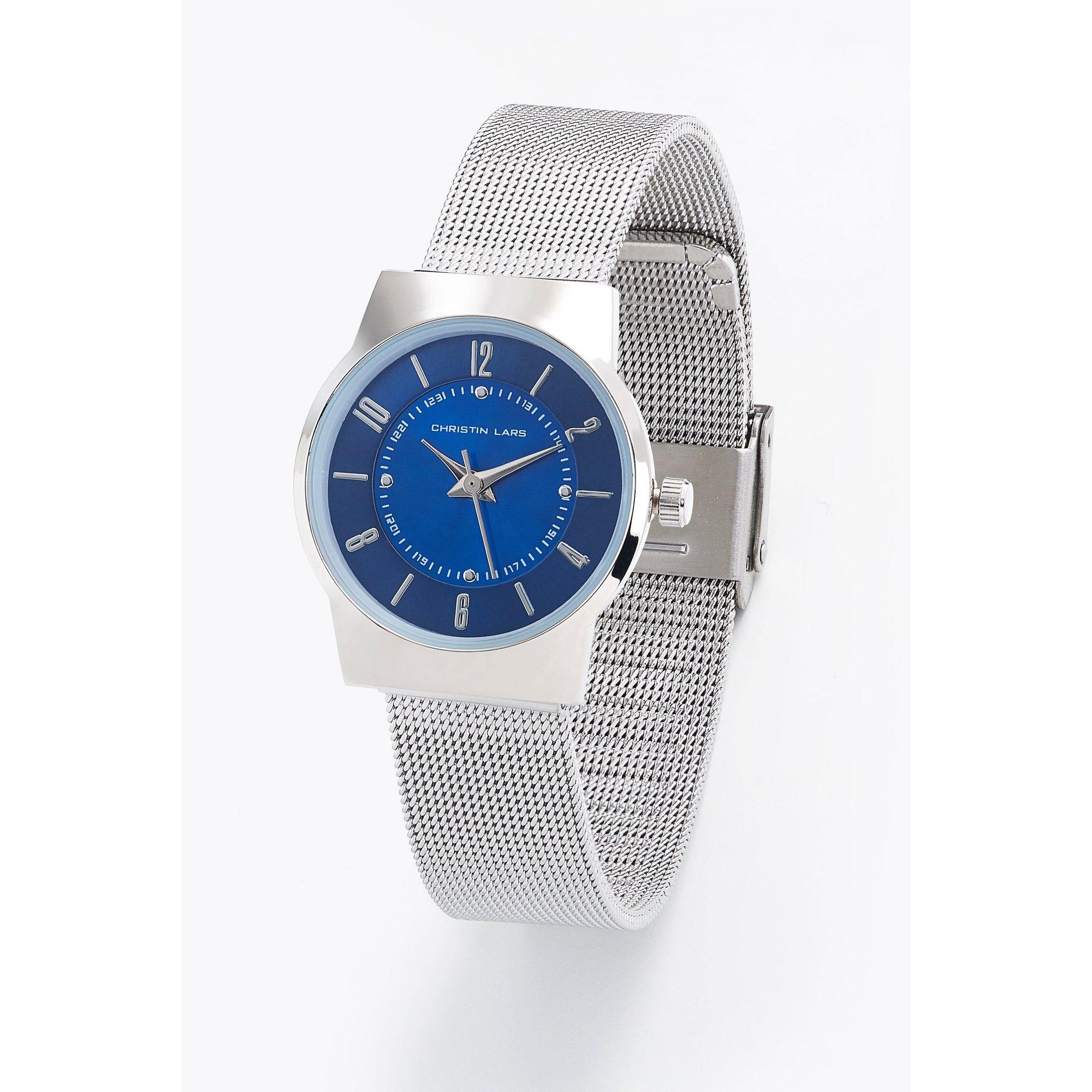 Image of Christin Lars Silver Tone Bracelet Watch