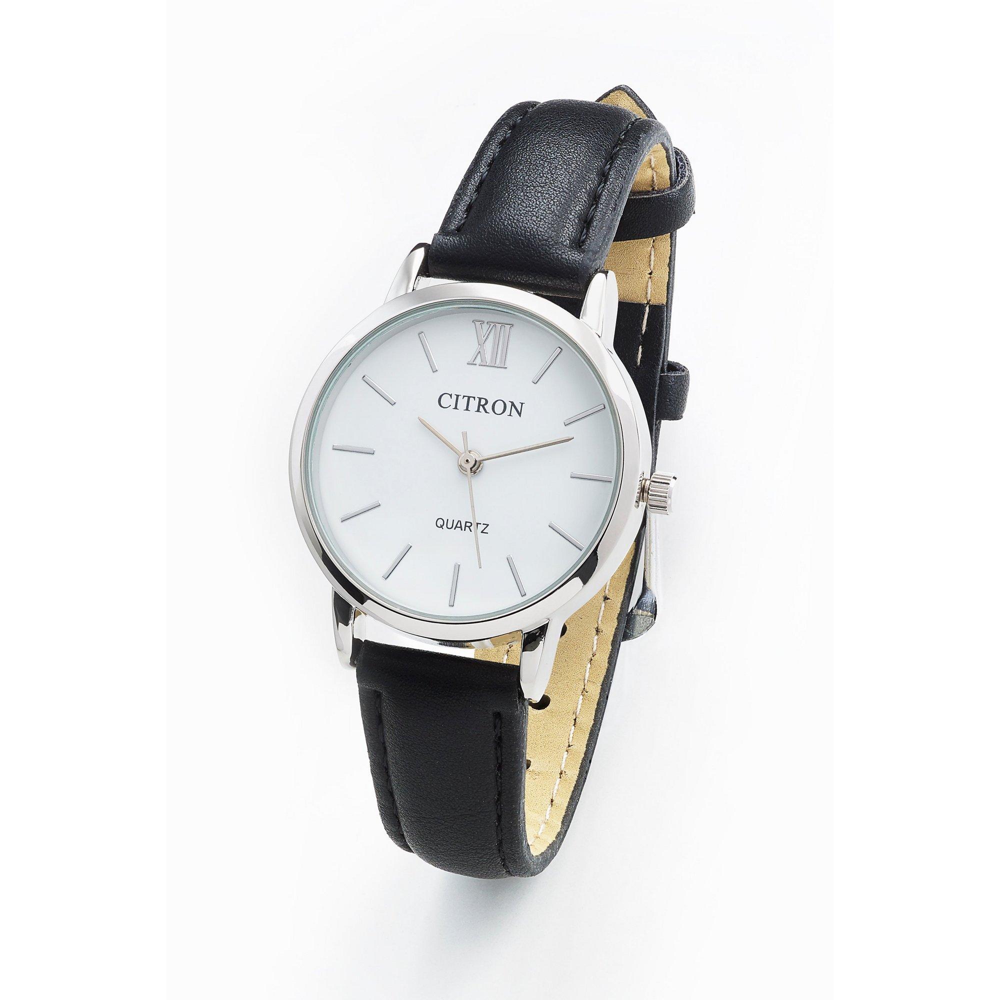 Image of Citron Black Strap Watch