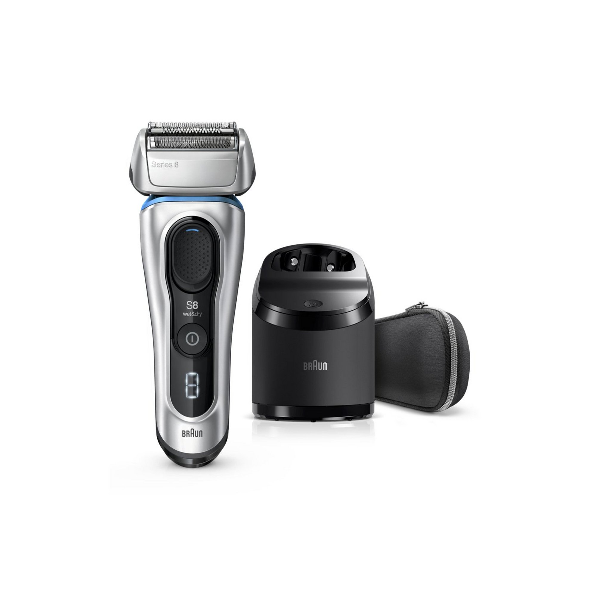 Image of Braun 8 Series Next Generation Shaver with Clean and Charge
