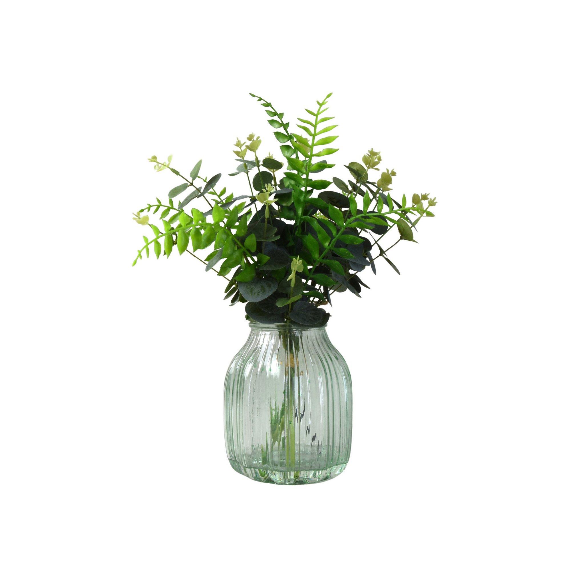 Image of Eucalyptus Arrangement in Glass Vase