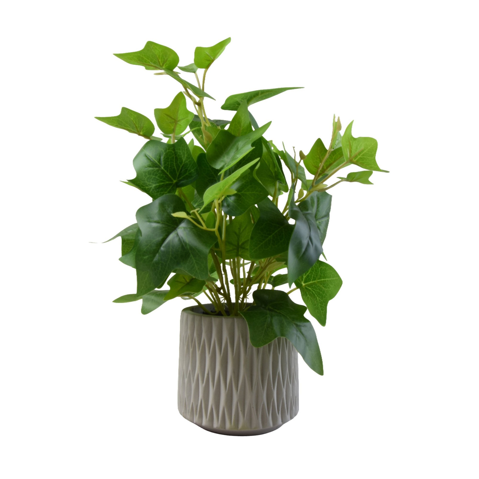 Image of Faux Ivy in Cement Pot