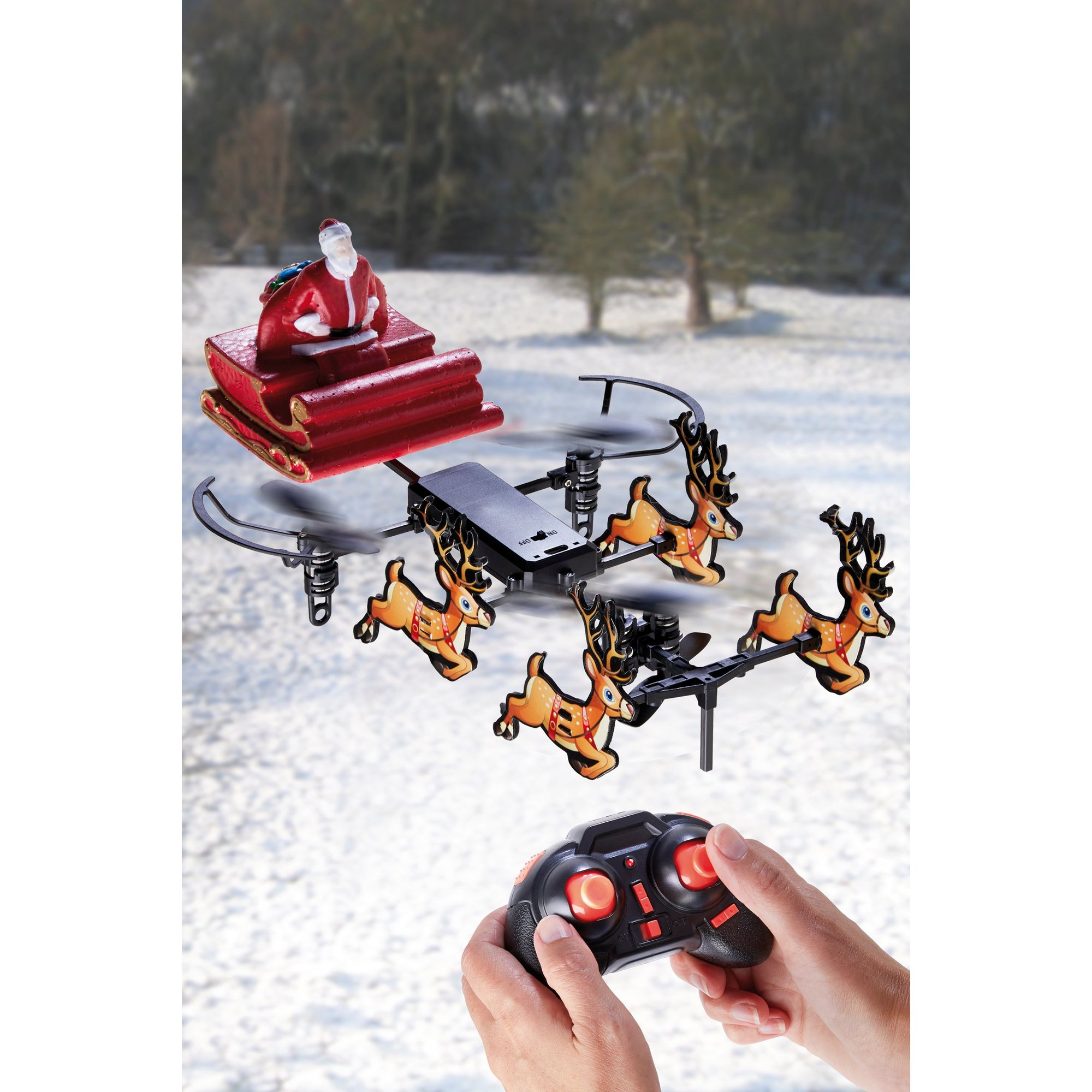 Flying Santa Sleigh Drone