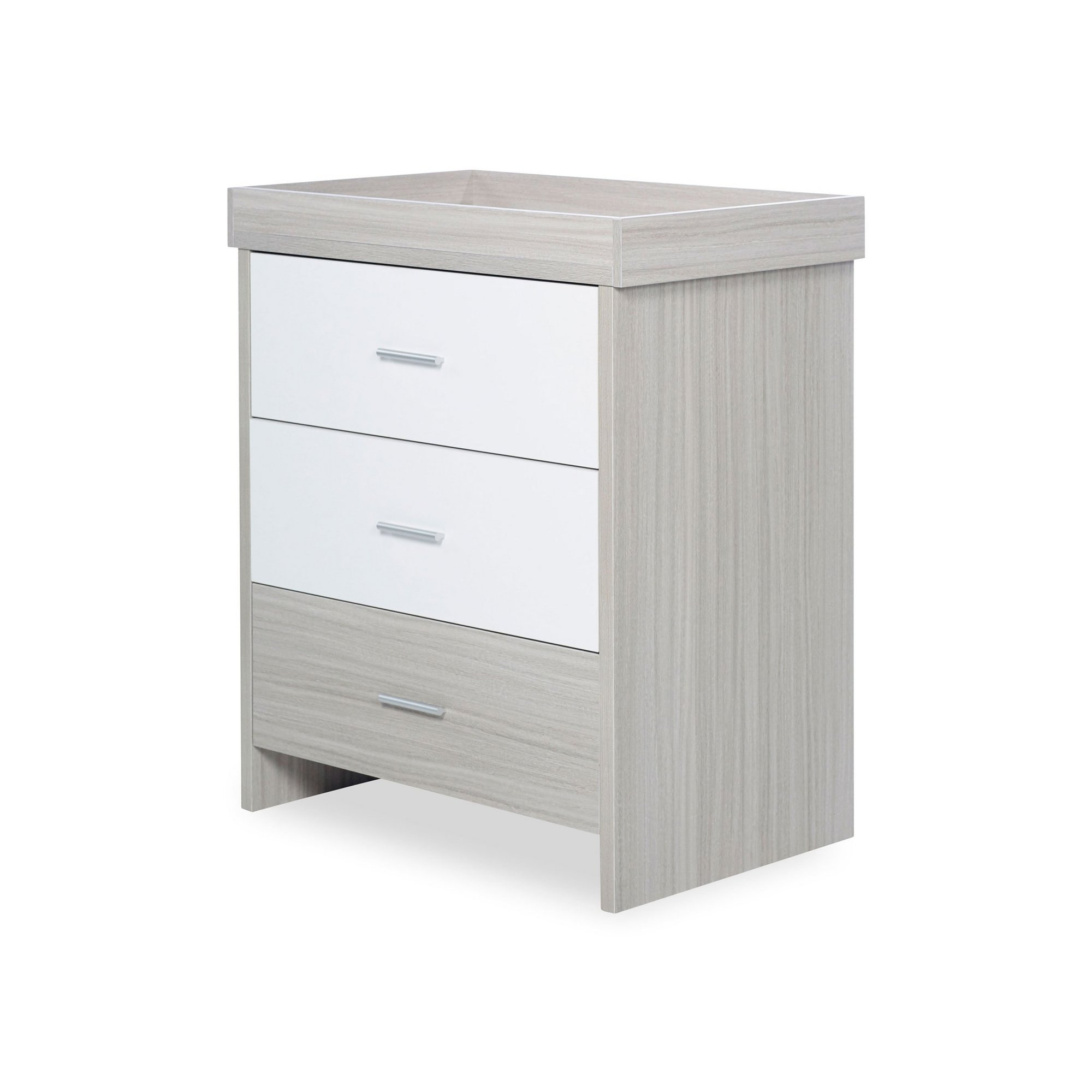 Image of Ickle Bubba Ash Grey and White Trend Pembrey Changing Unit / Chest