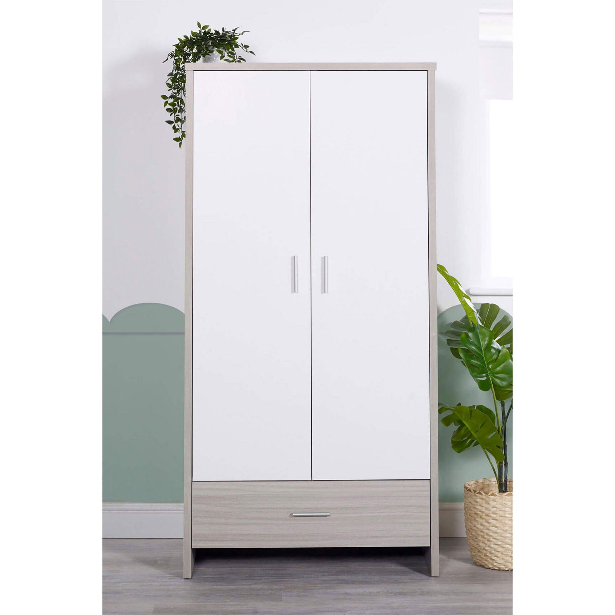 Image of Ickle BubbaAsh Grey and White Trend Pembrey Wardrobe