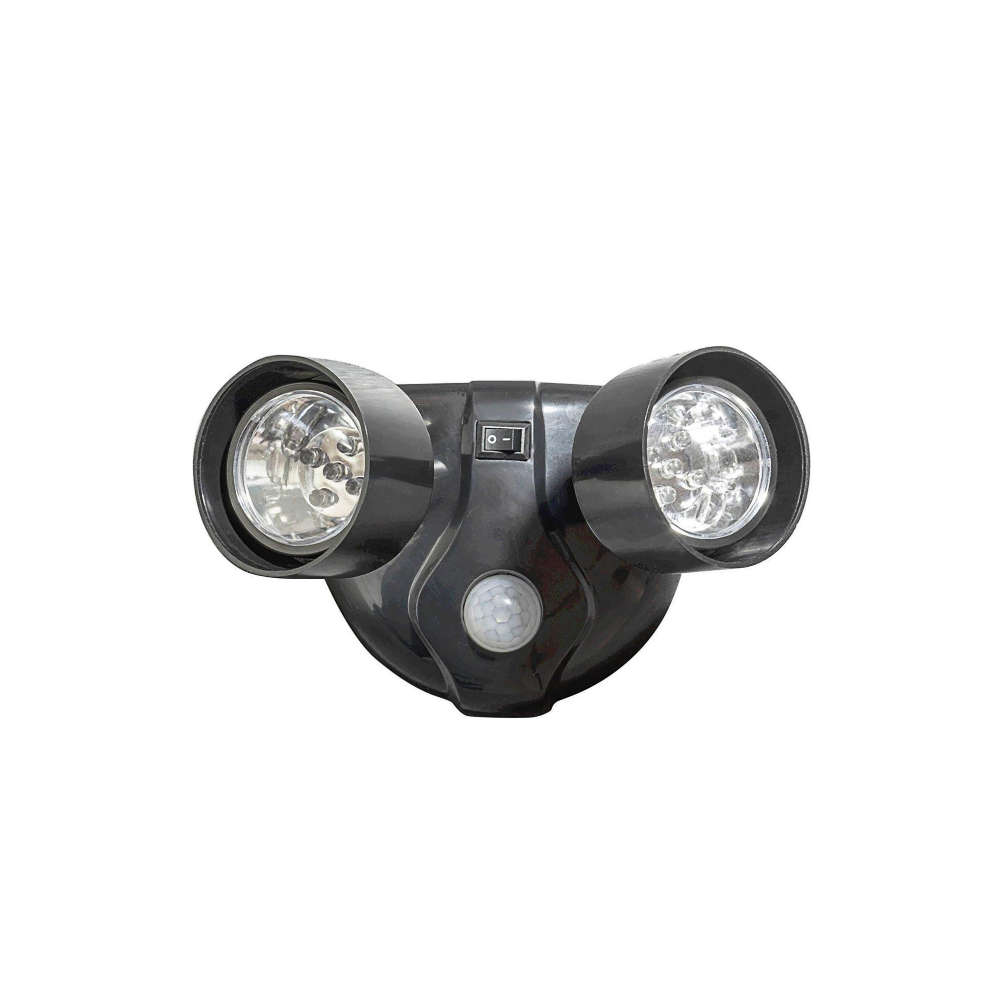 Image of 5 LED Twin Head Motion Sensor Security Battery Light
