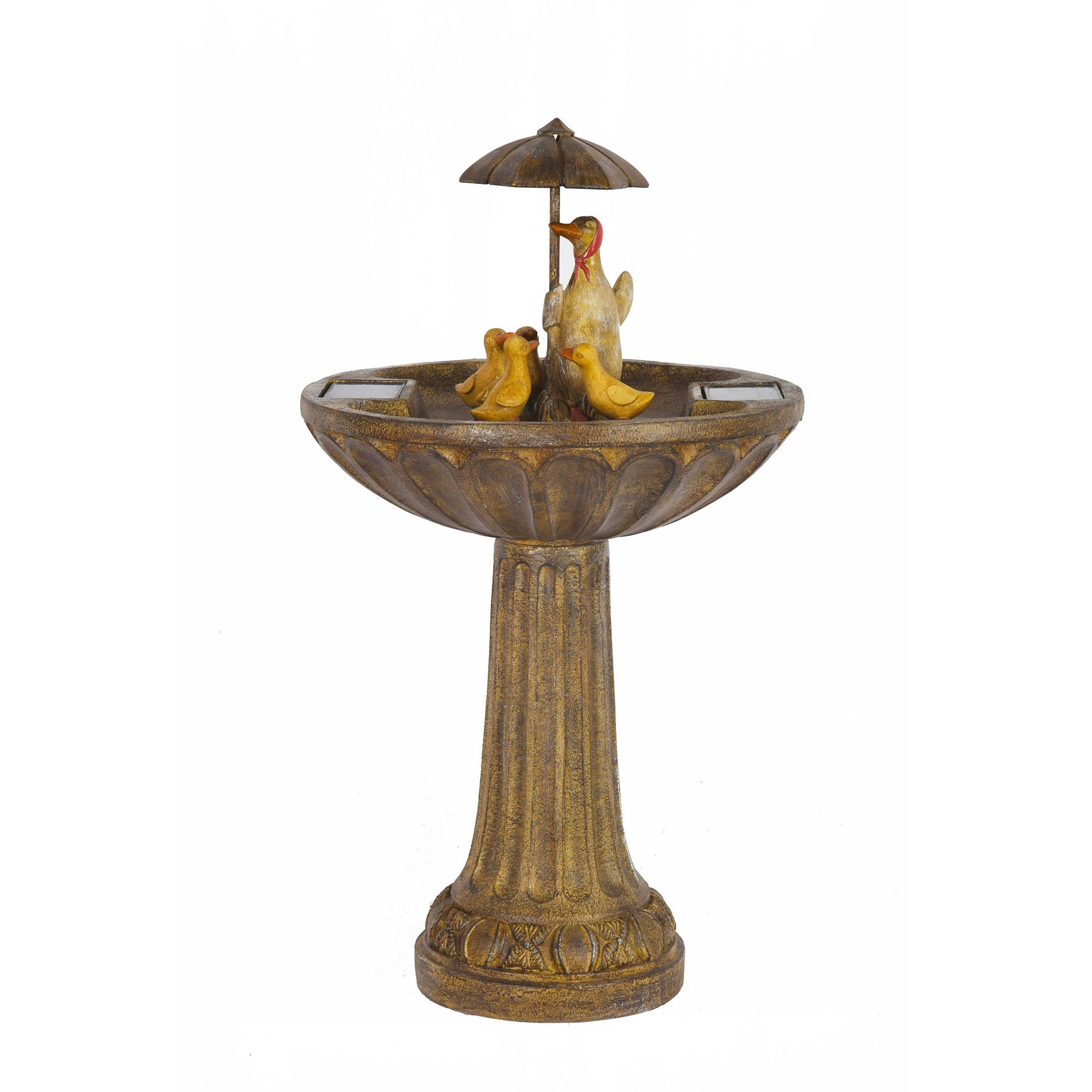 Image of Duck Family Solar Water Feature