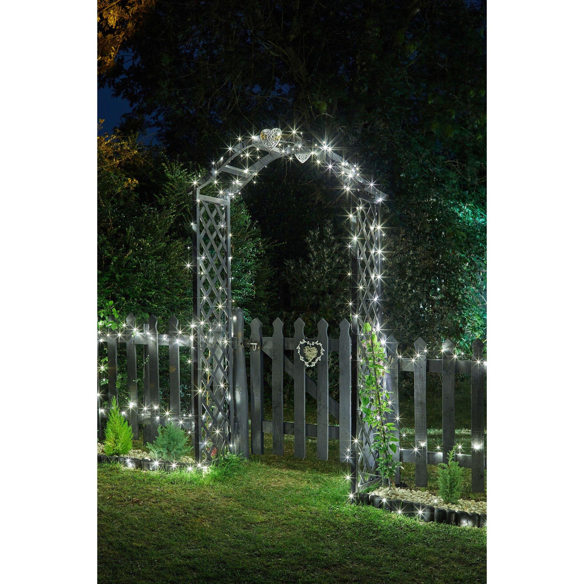Image of 100 Cool White LED Solar String Lights