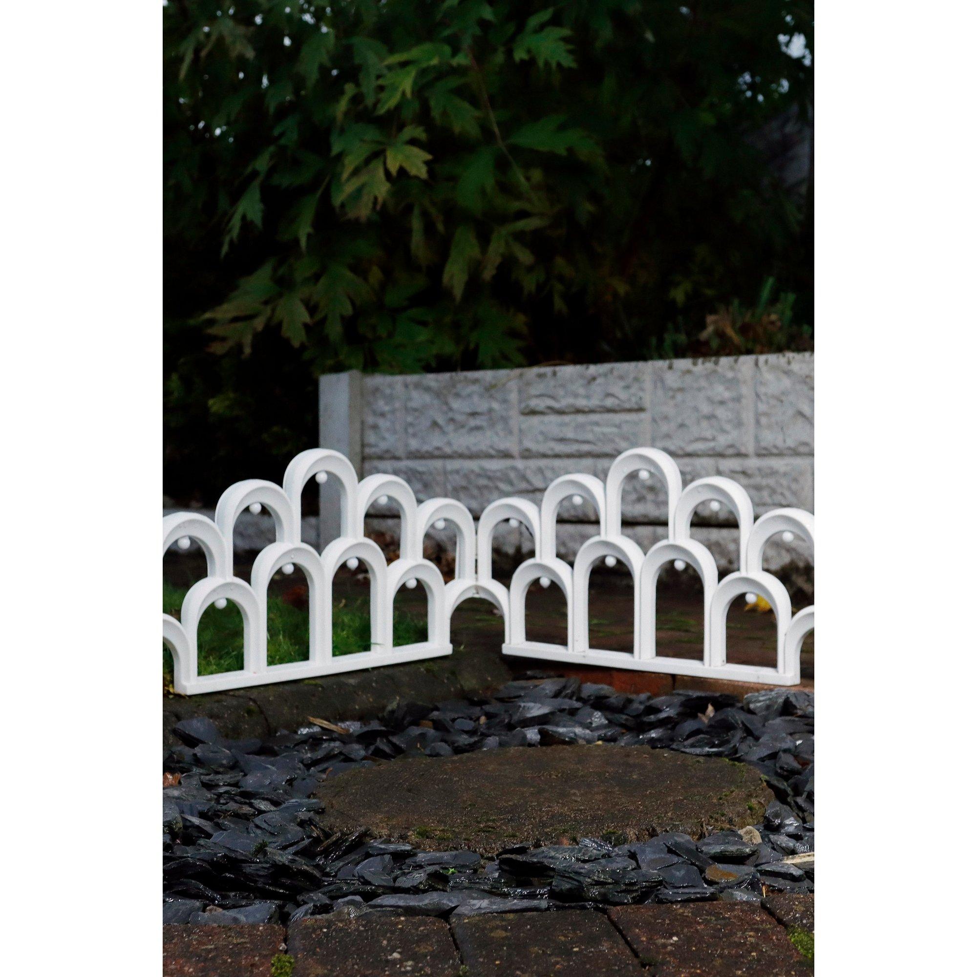 Image of Solar LED Garden Arch Fence Border