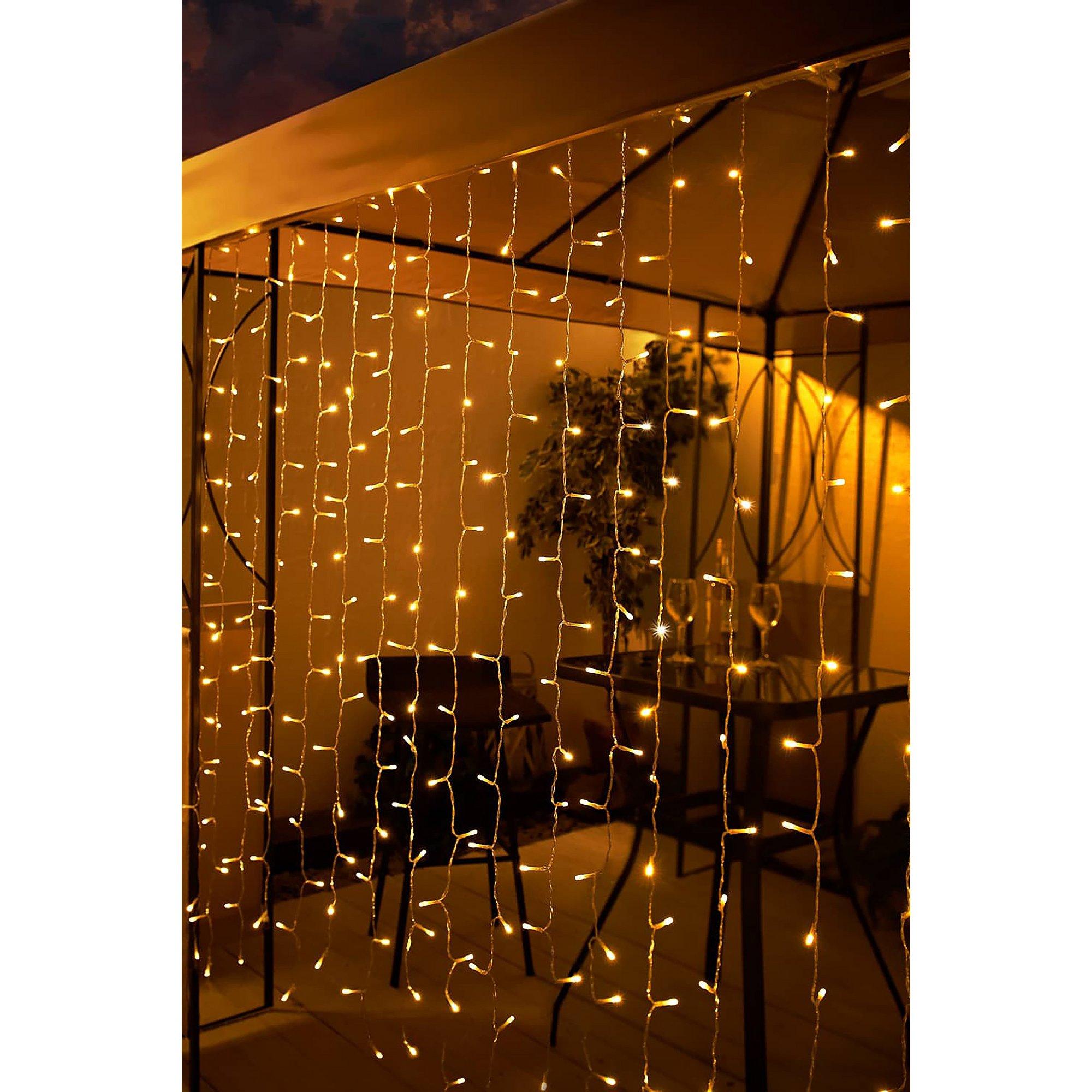 Image of 192 LED Solar Curtain Lights