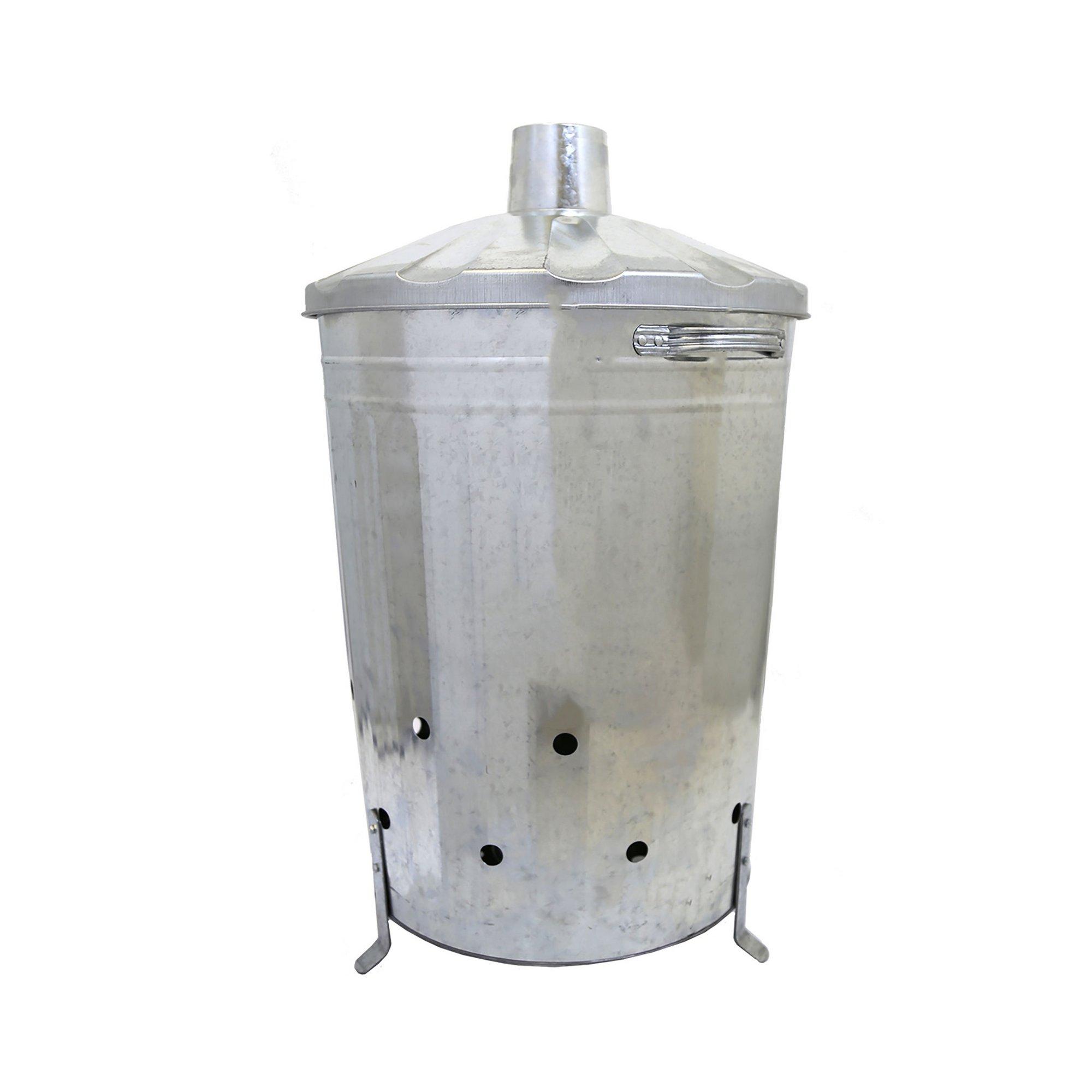 Image of 90L Galvanised Metal Incinerator