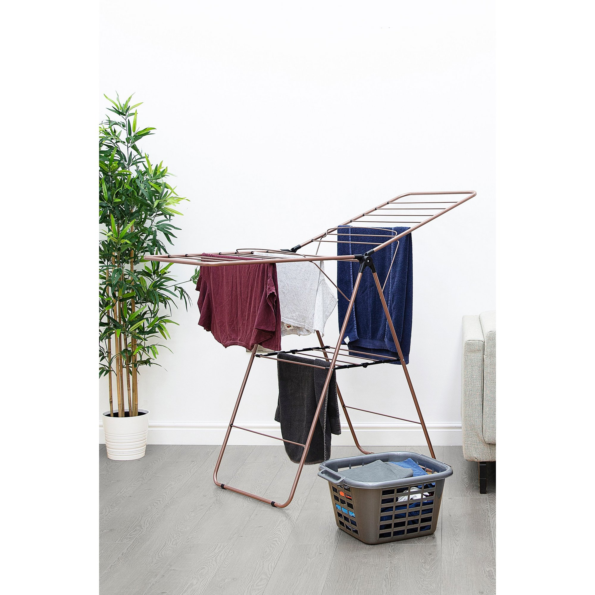 Image of Tower Rose Gold Black Winged Airer