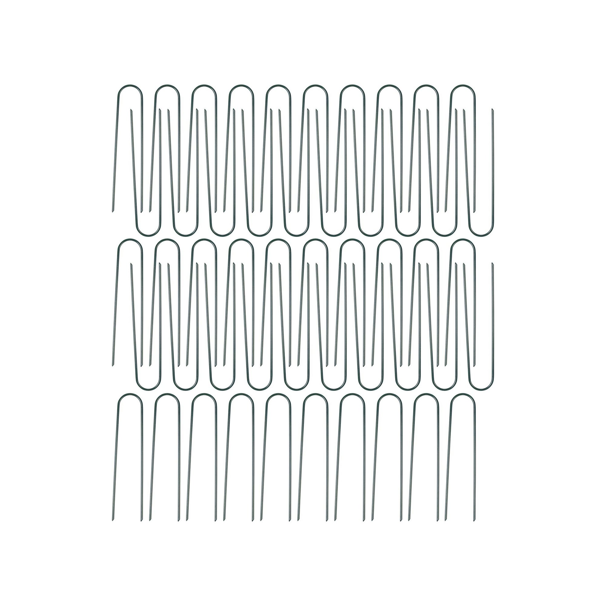 Image of Pack of 50 Artificial Grass 15cm U-Shaped Nails