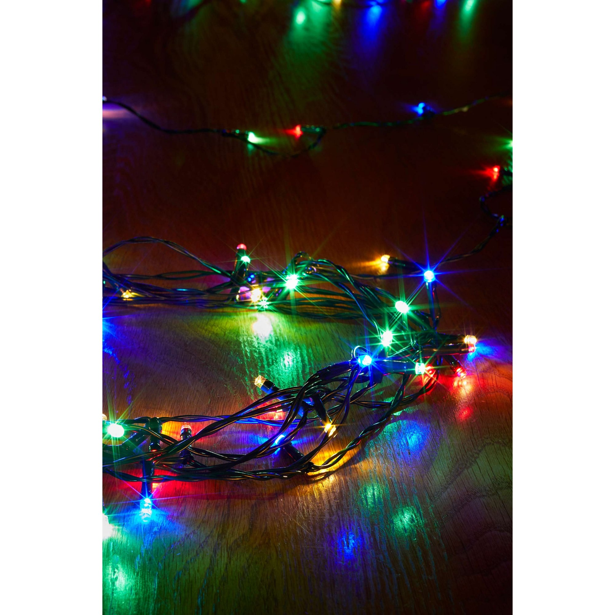 Image of 50 Multi Coloured LED Battery String Lights