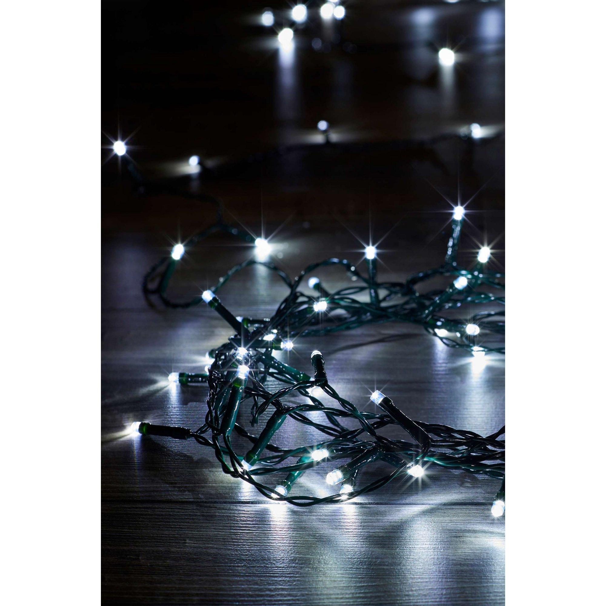 Image of 200 Cool White LED Battery String Lights