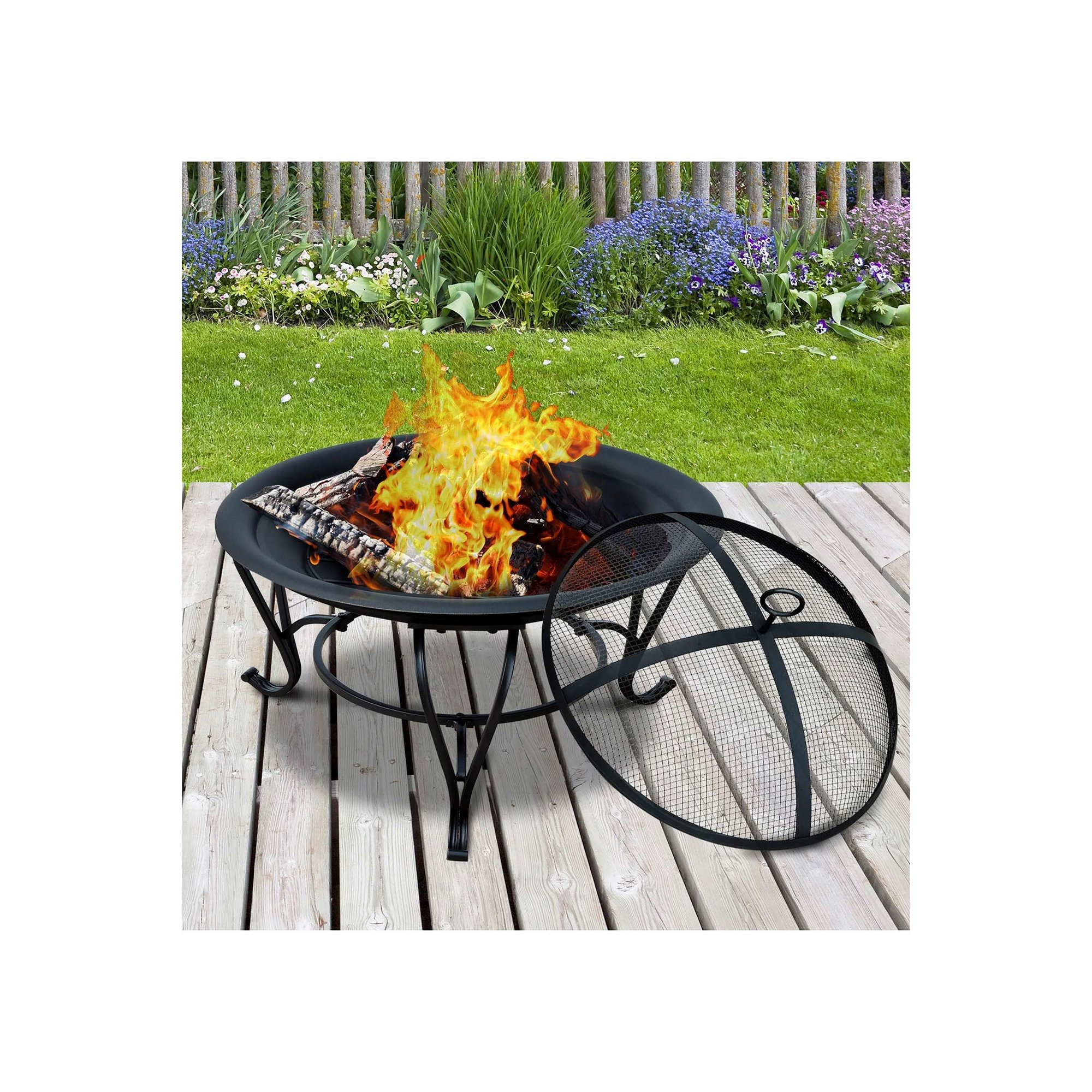 Image of Outsunny Steel Fire Pit