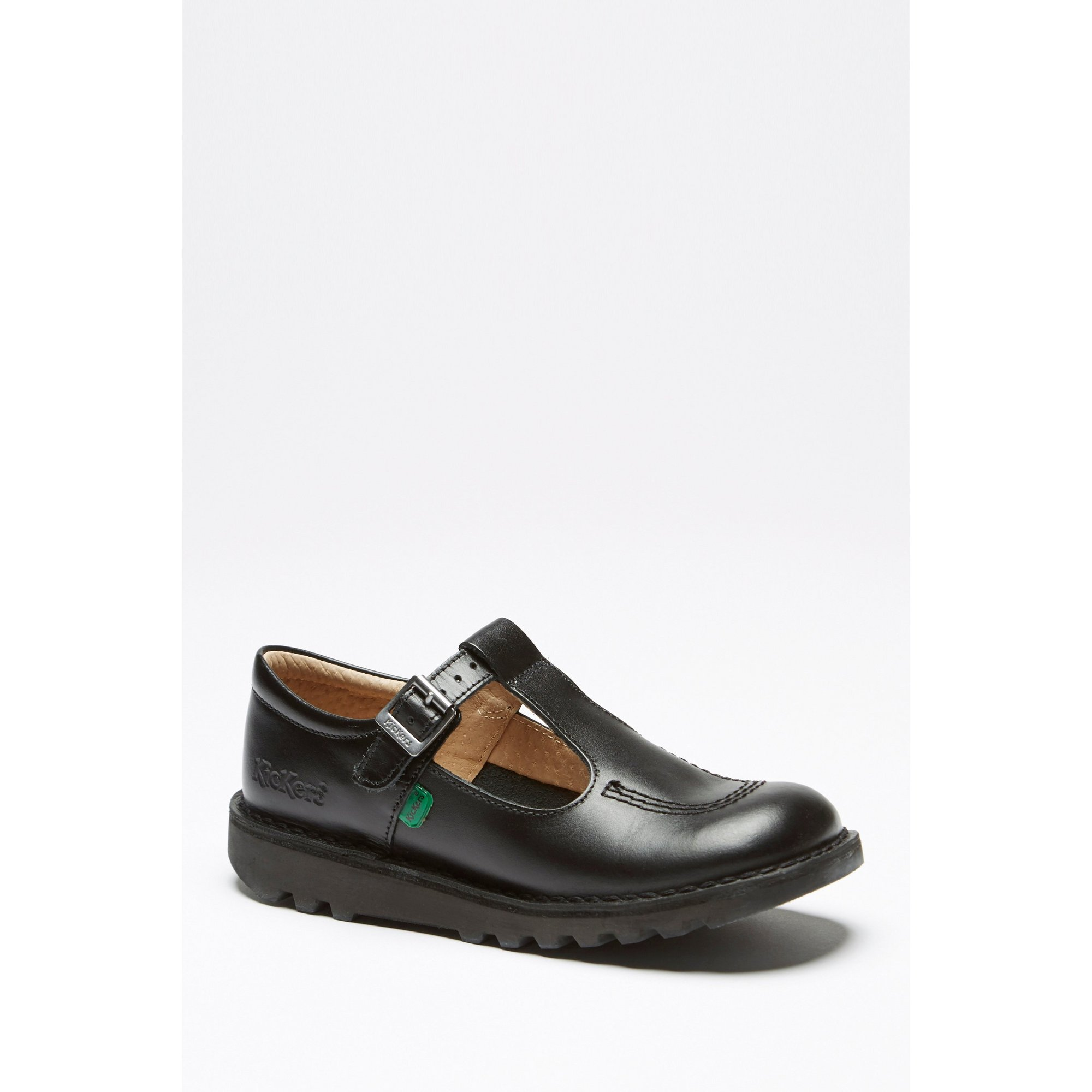 Image of Girls Kickers T-Bar Black Shoes
