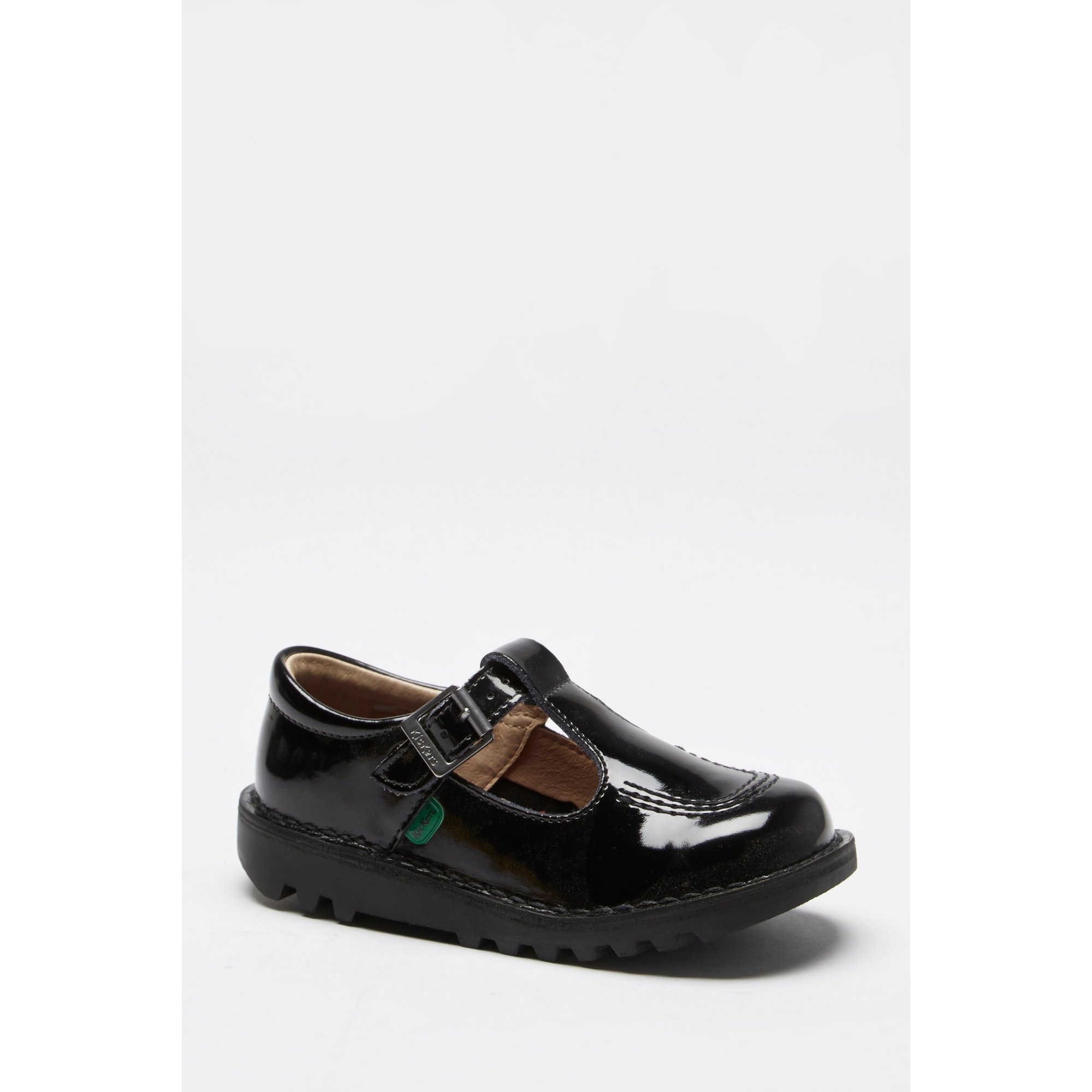 Image of Girls Kickers T-Bar Black Patent Shoes