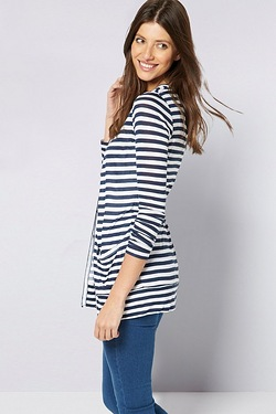 Be You Boyfriend Cardigan - Navy/Ivory Stripe