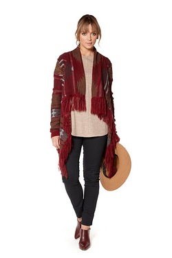 Just Me Fringe Cardigan