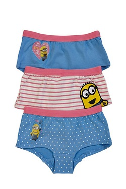 Girls Despicable Me Pack Of 3 Hipsters