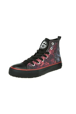 Spiral Blood Rose Hi Tops
